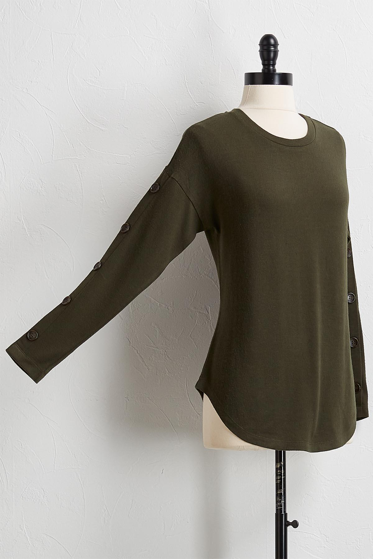 Button Sleeve Hacci Top