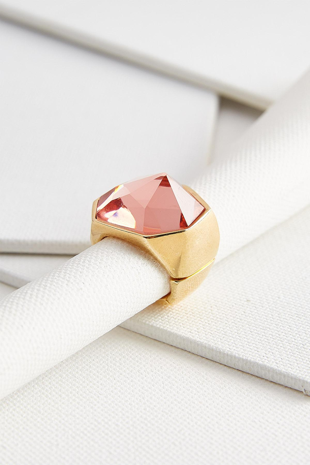 Faceted Stone Stretch Ring