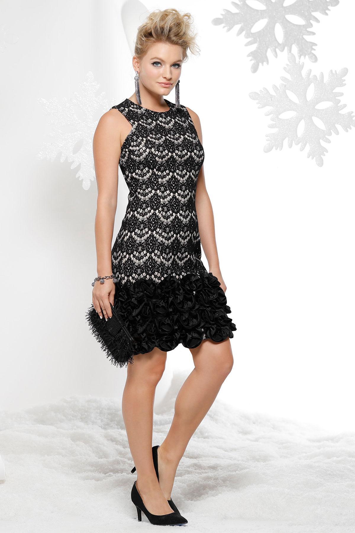 Lace Floral Hem Dress
