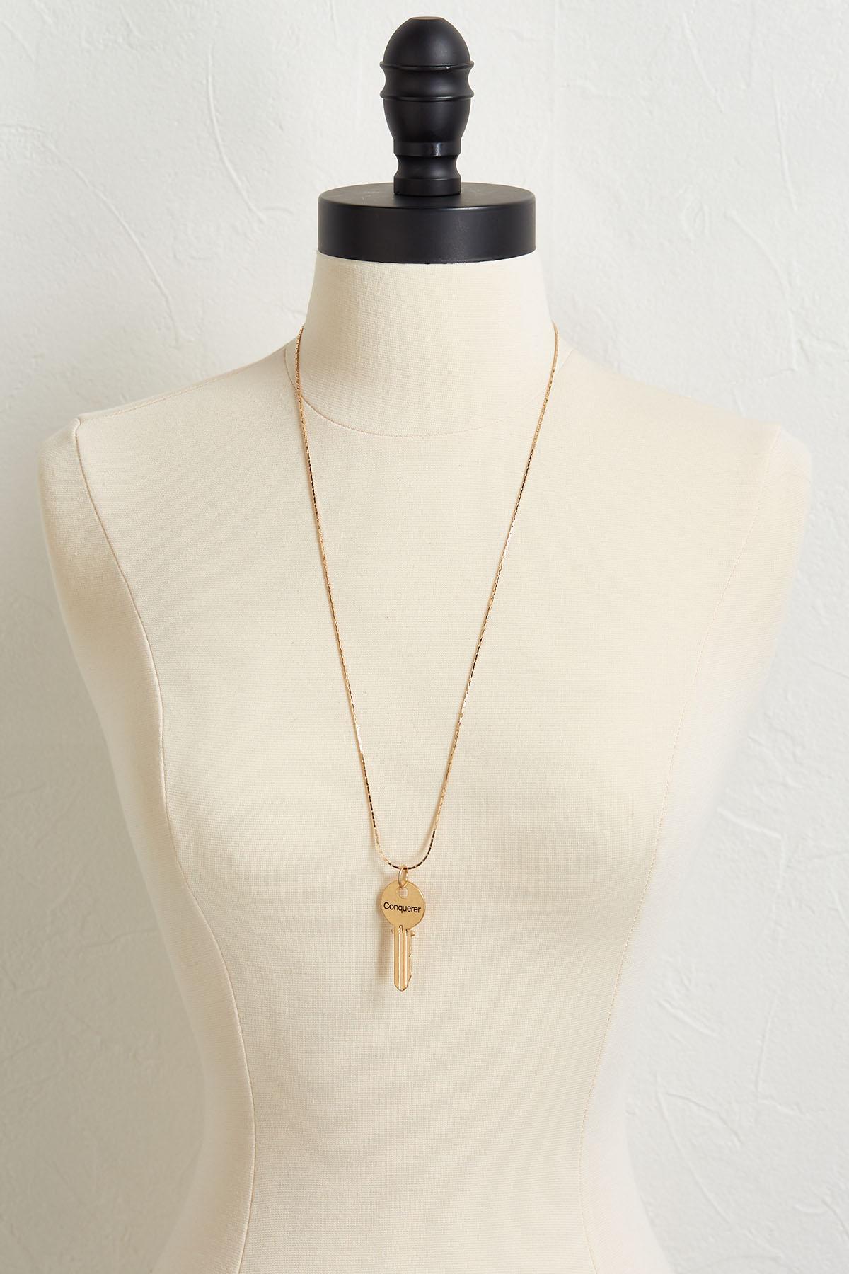 Conqueror Key Pendant Necklace