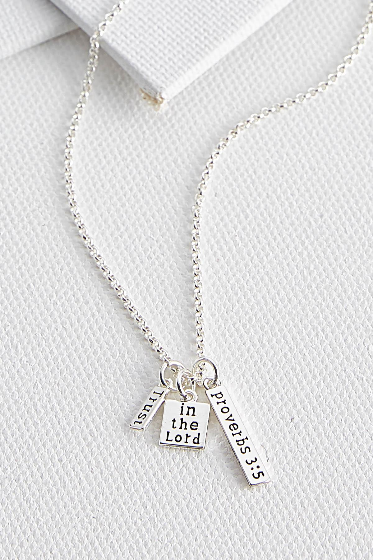 Dainty Inspirational Pendant Necklace
