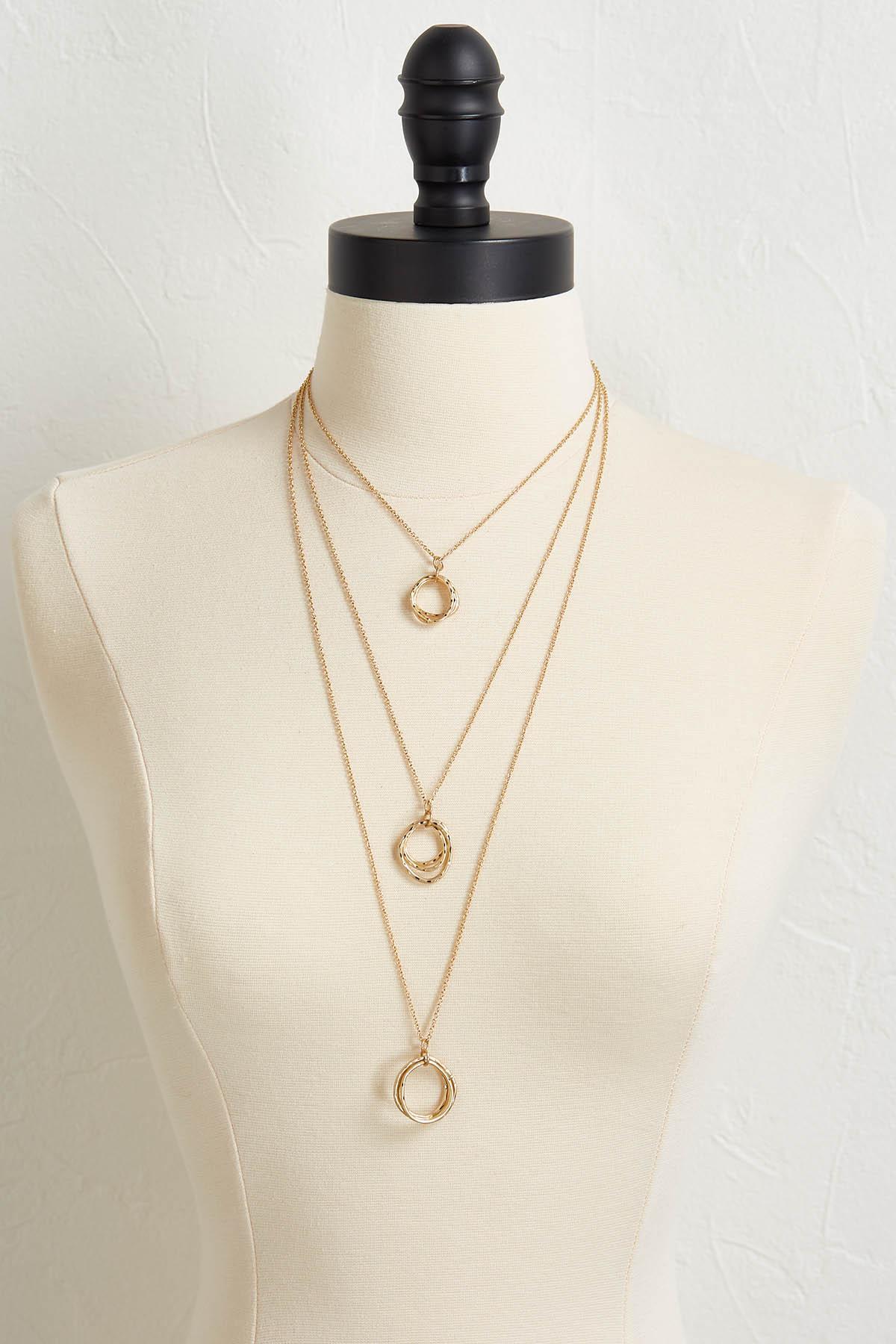 Multi Hoop Pendant Necklace