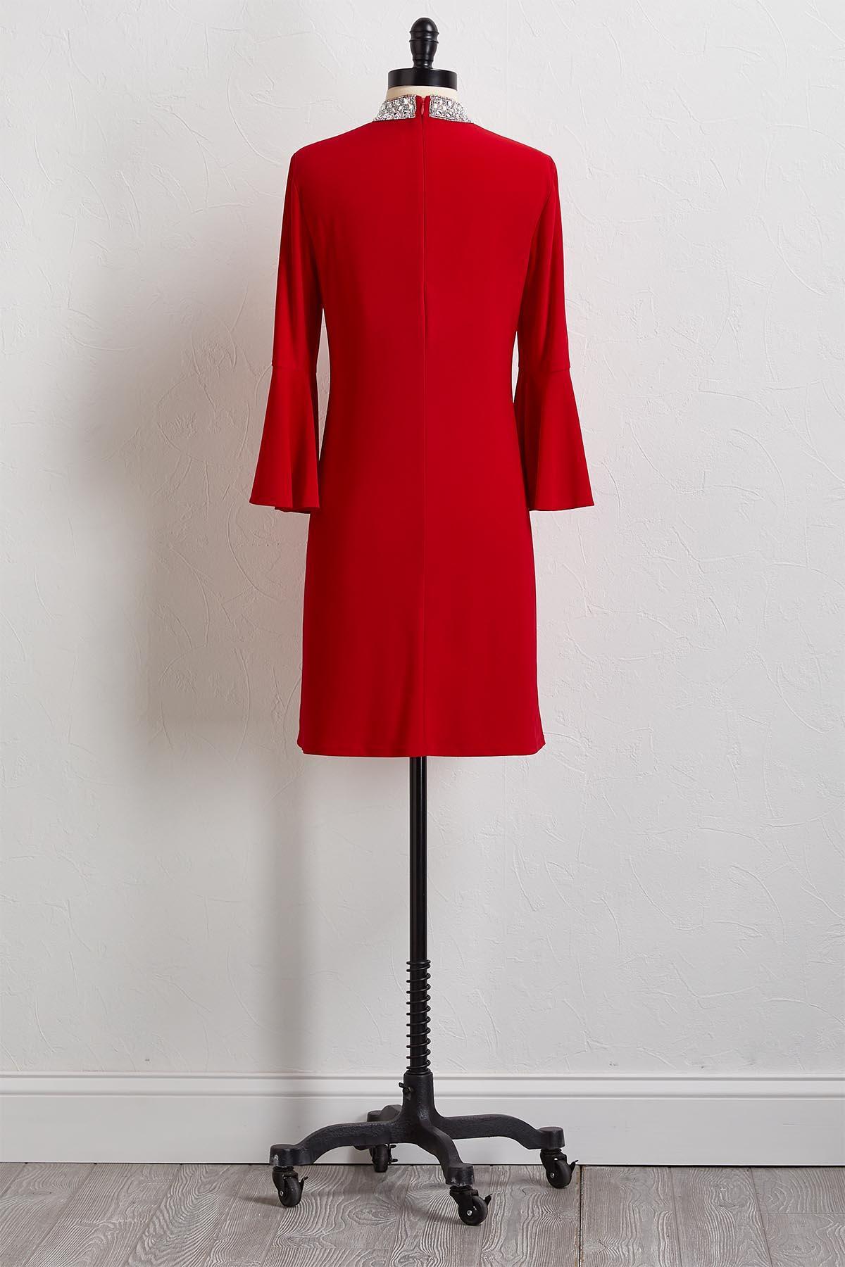 Sparkling Embellished Shift Dress