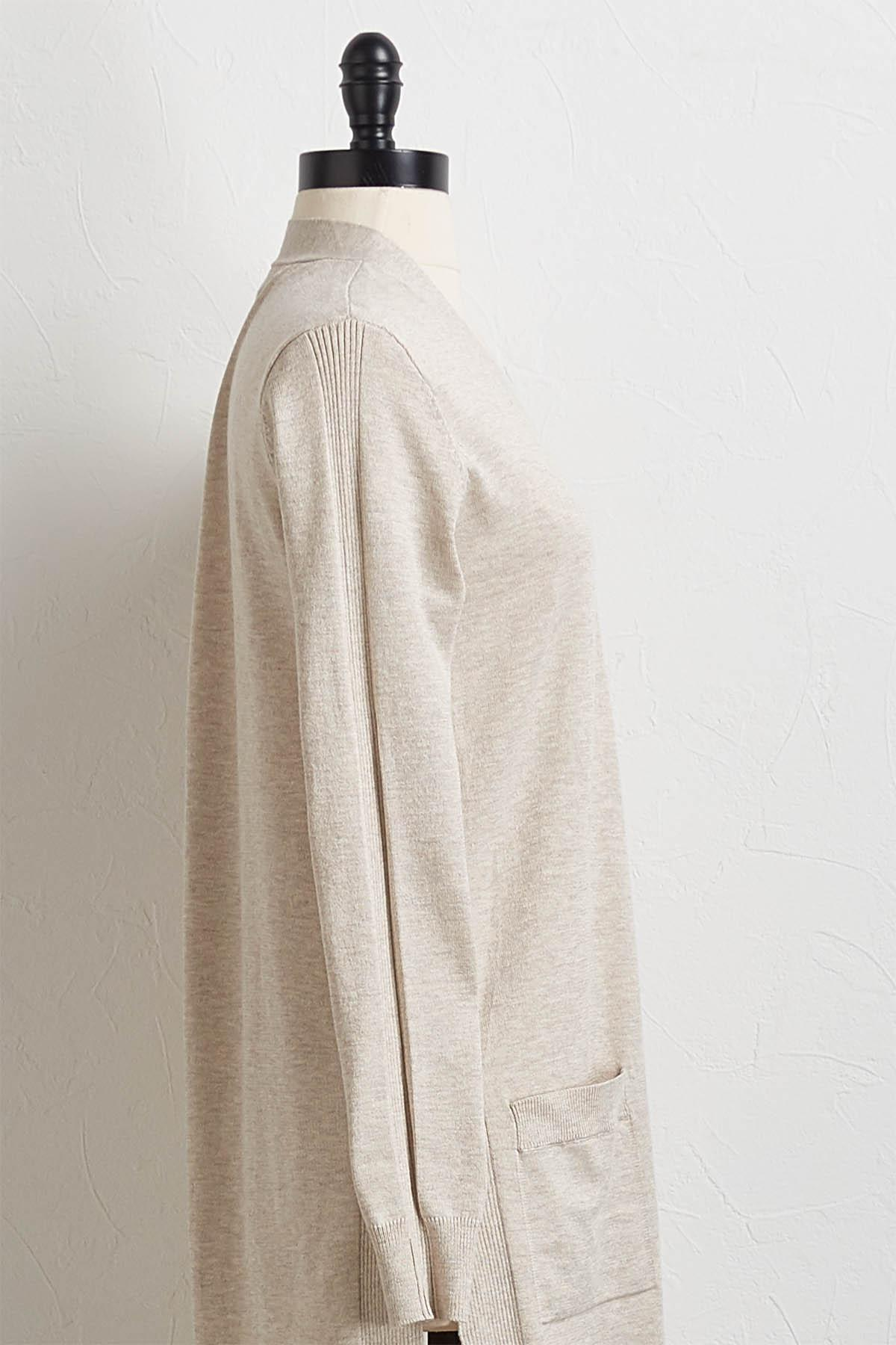 Side Slit Cardigan Sweater