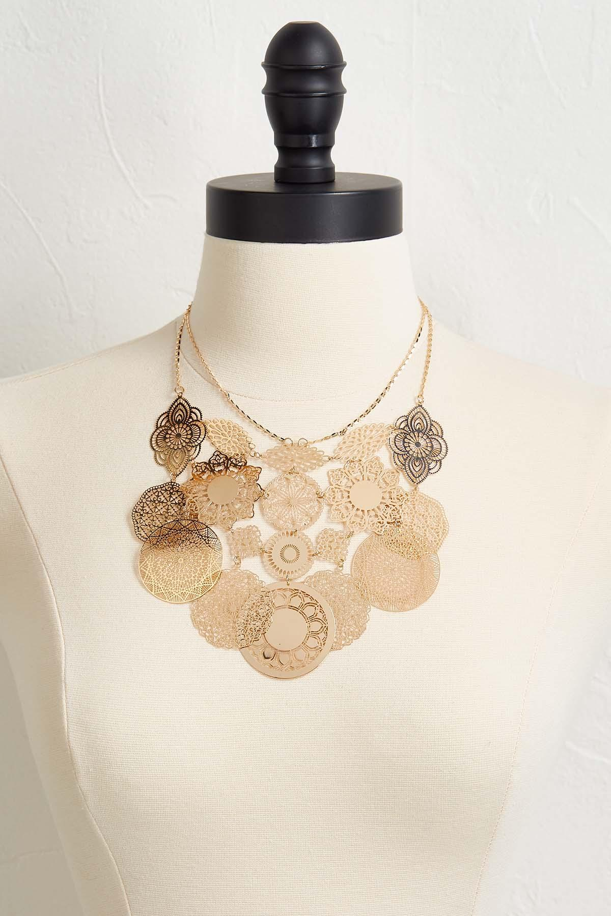 Filigree Statement Bib Necklace