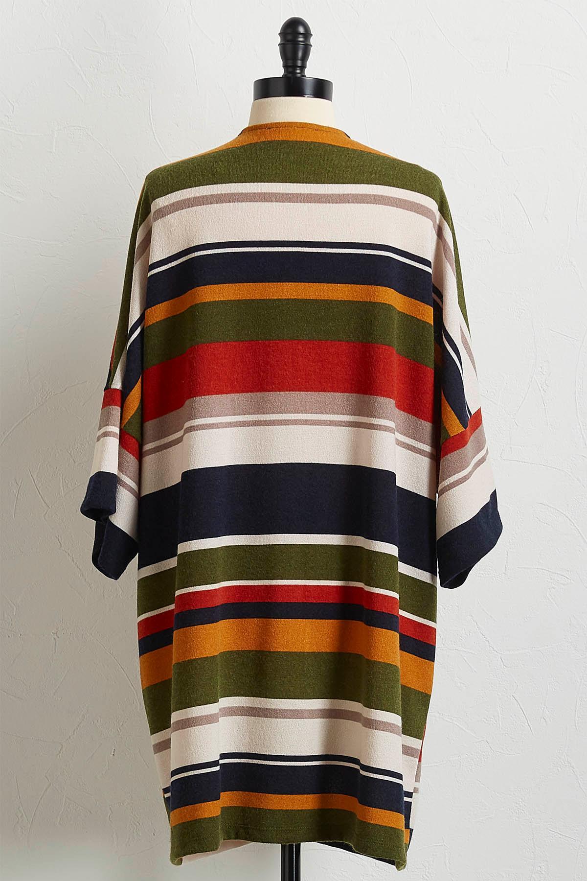 Hacci Multi Stripe Cardigan