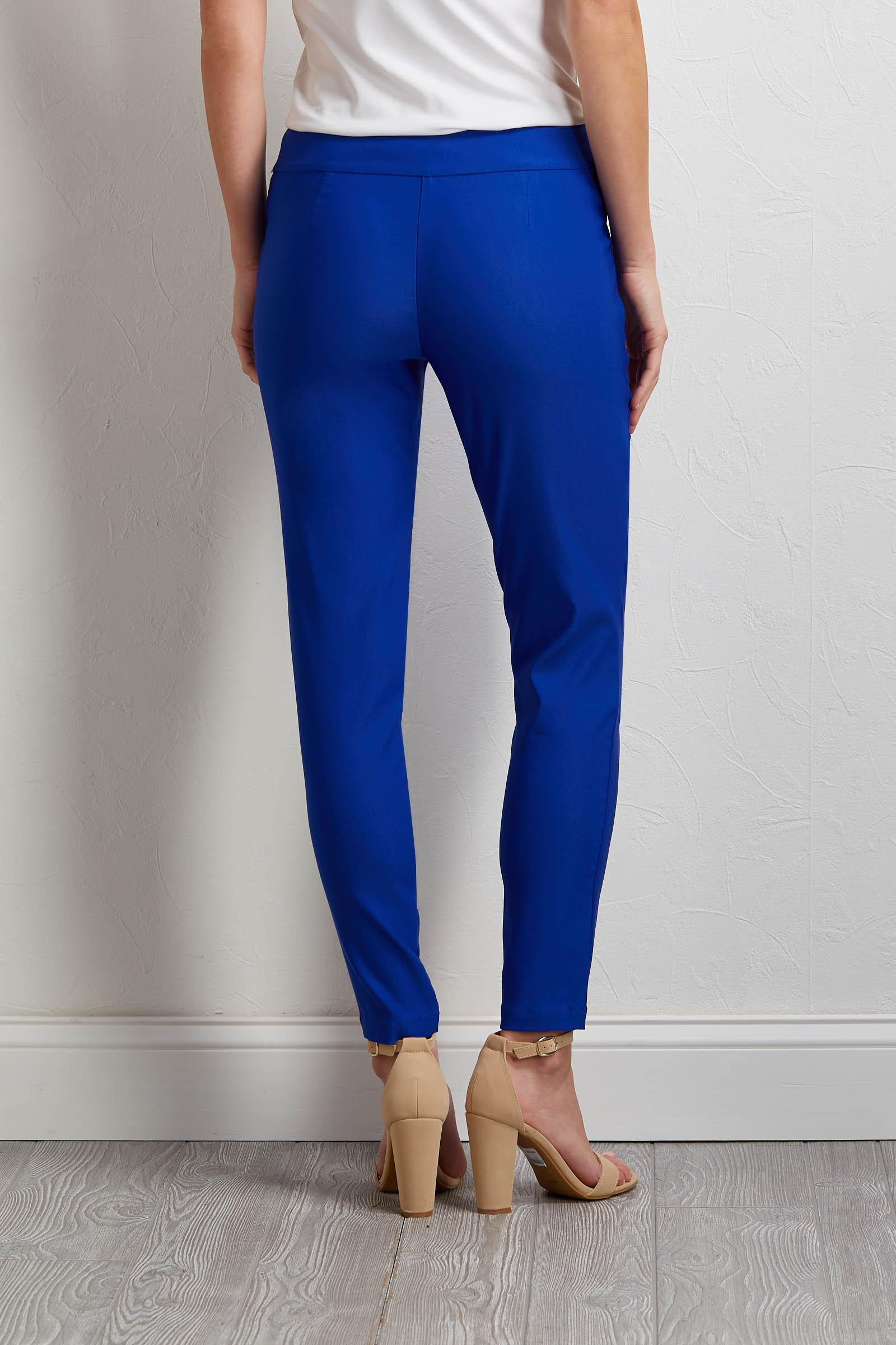 Solid Color Pull- On Pants
