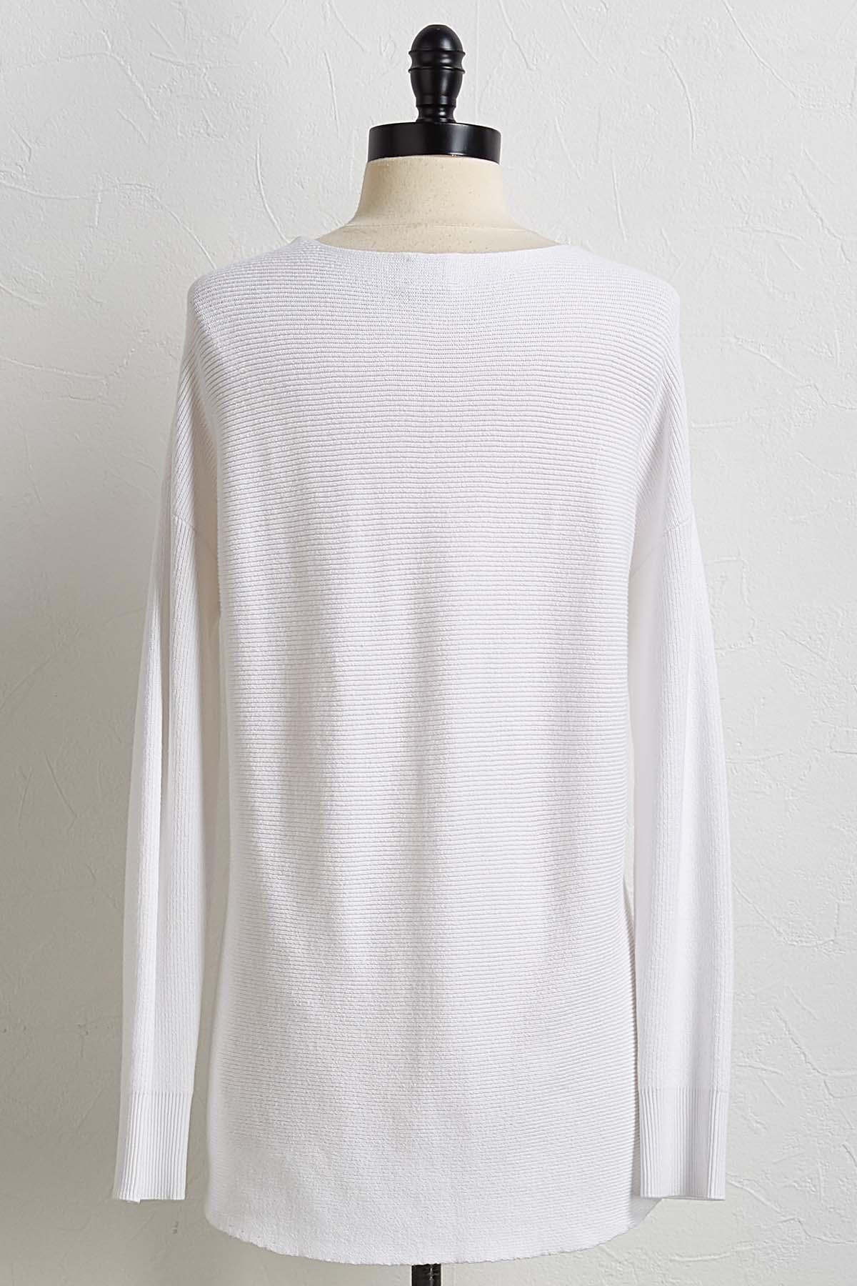 White Tunic Sweater