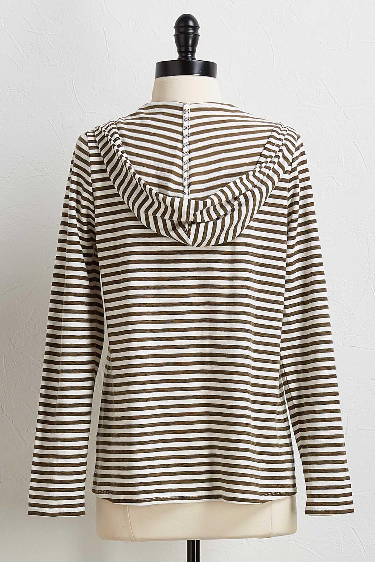 Clover Stripe Hoodie