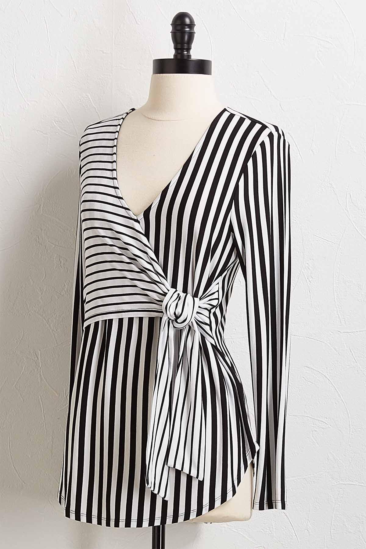 Knotted Faux Wrap Top