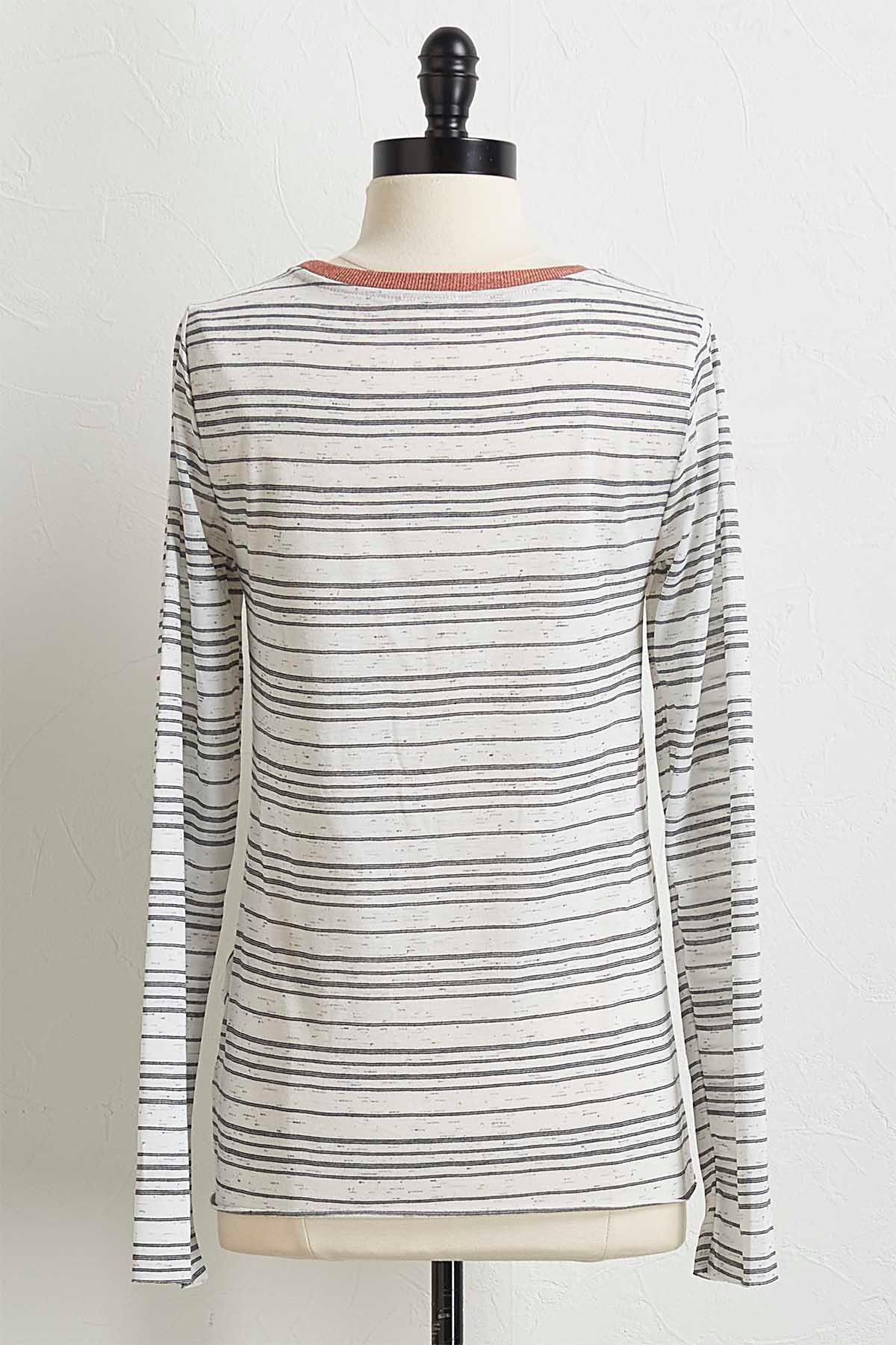 Knotted Brushed Stripe Top