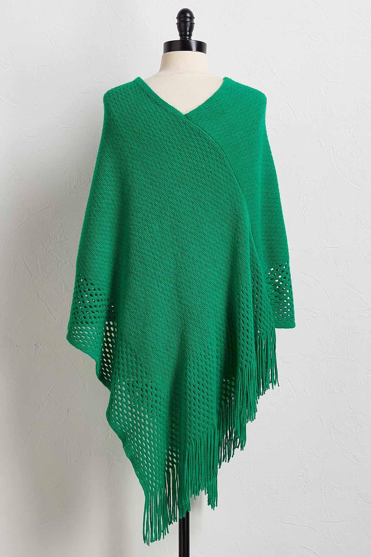 Bright Poncho Sweater