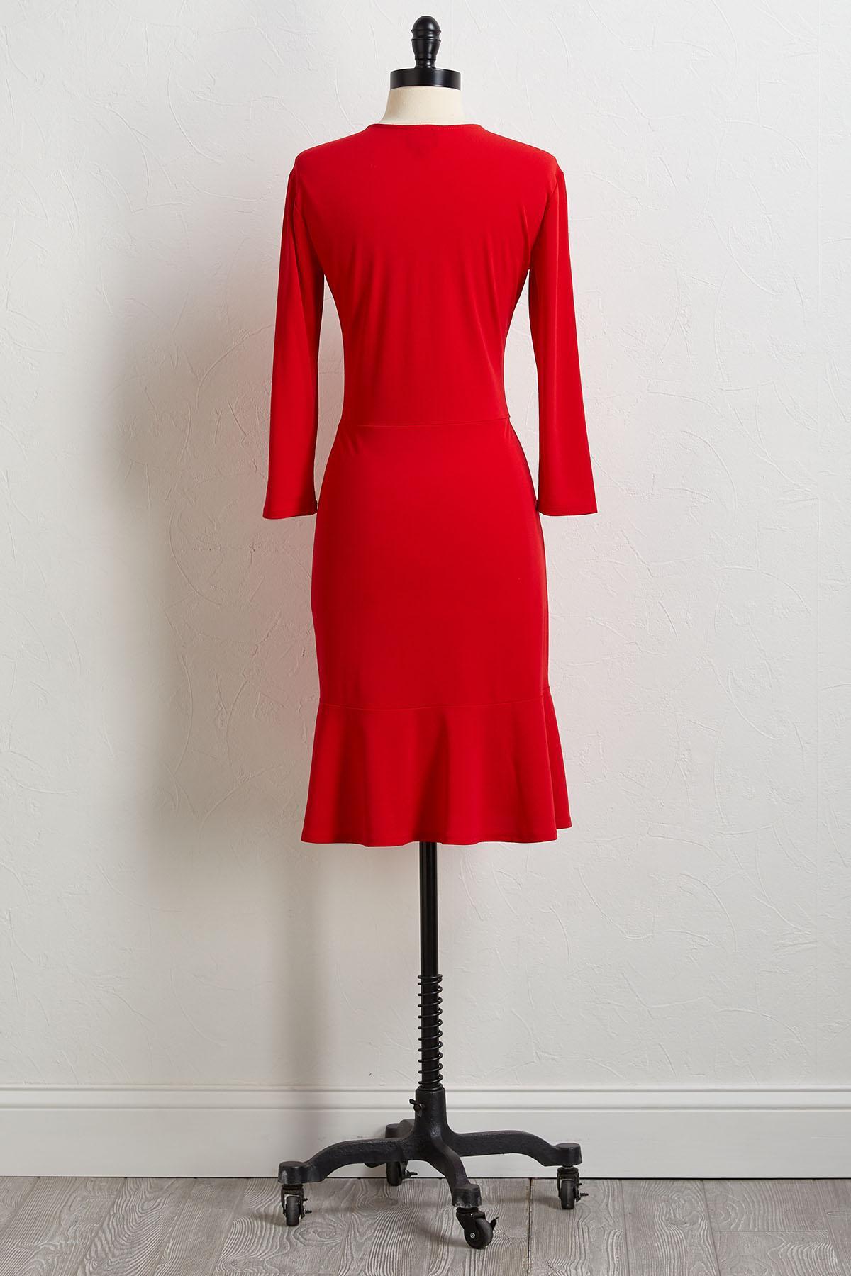Red Ruffled Dress