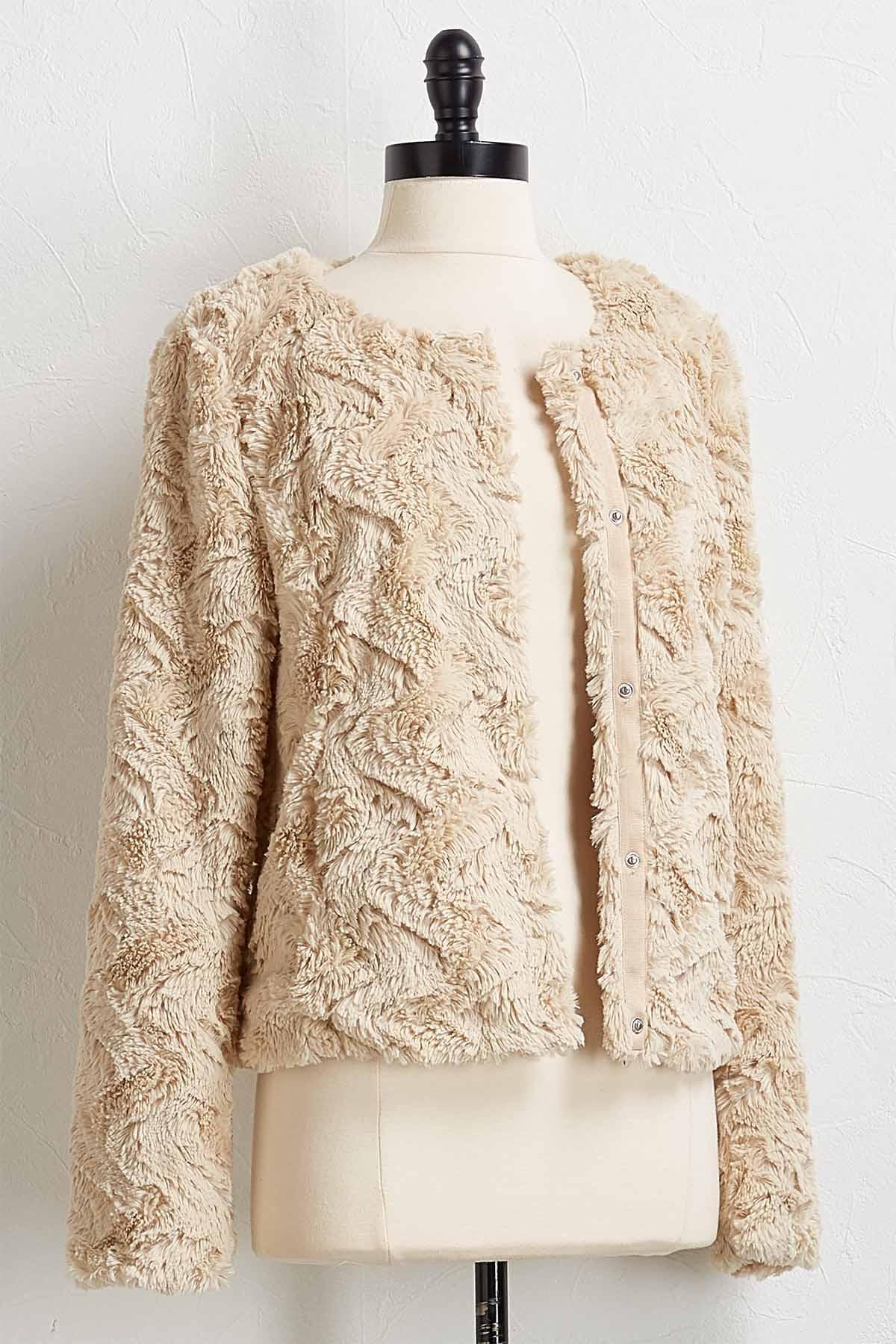 Plush Faux Fur Jacket