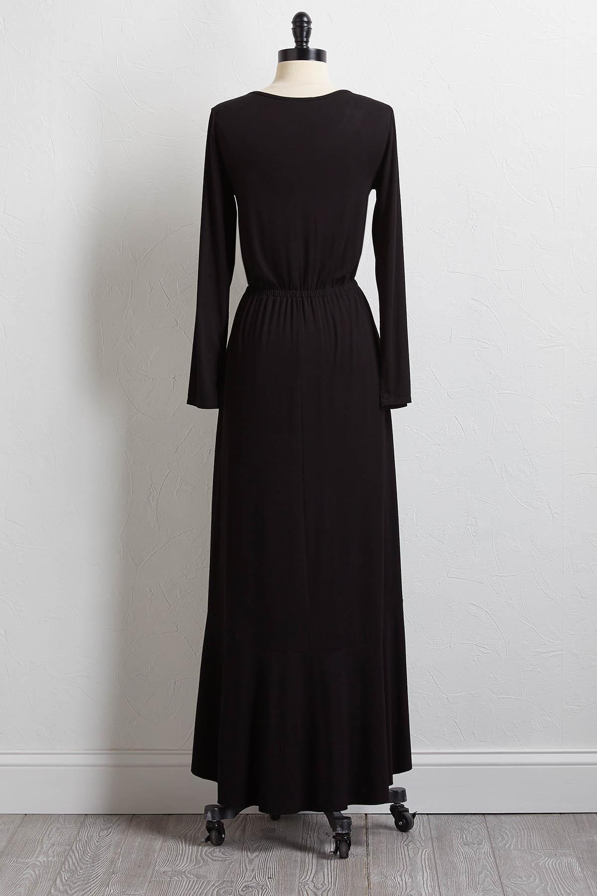 Solid Ruffled Maxi Dress