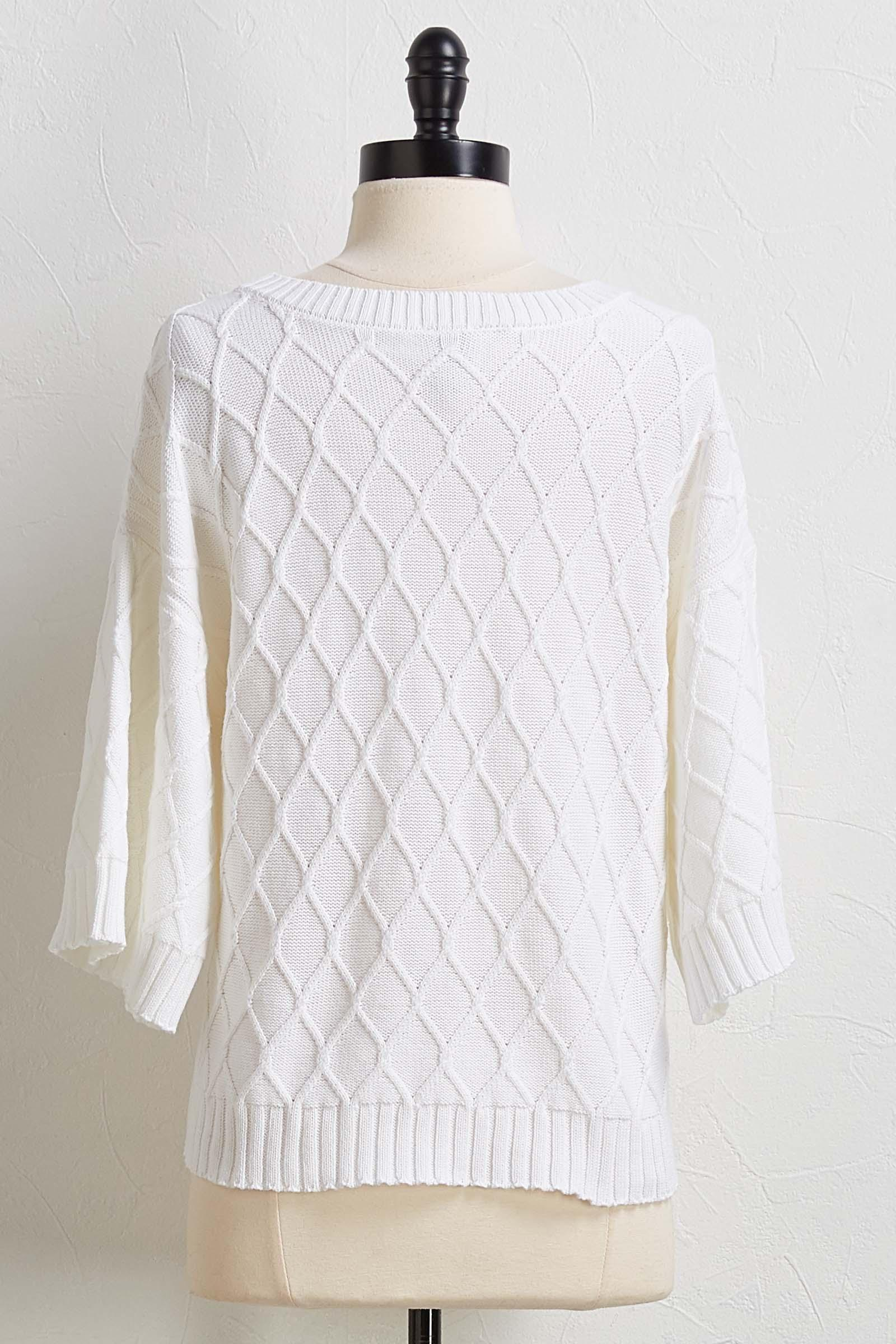 Diamond Cable Sweater