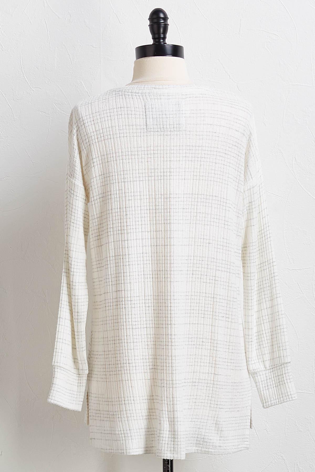 Hacci Gray Stripe Tunic