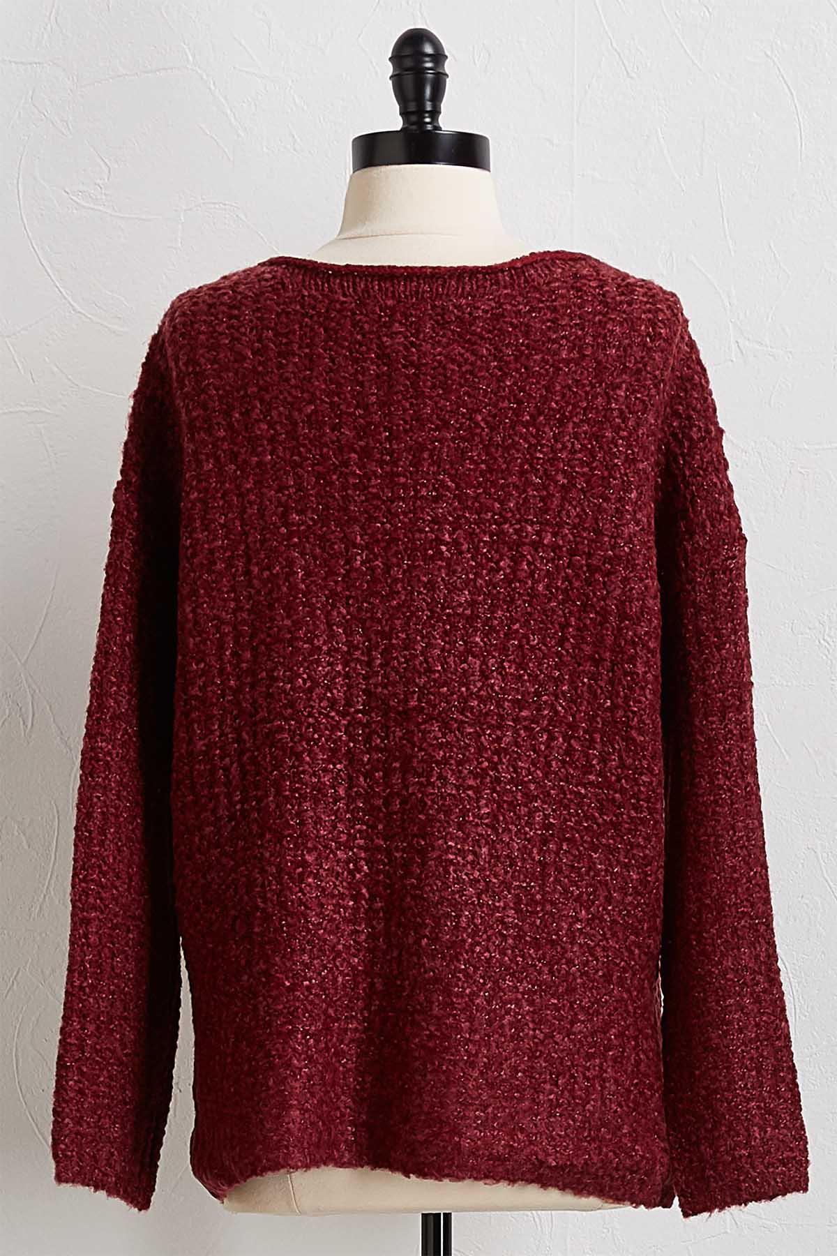 Wine Pullover Sweater