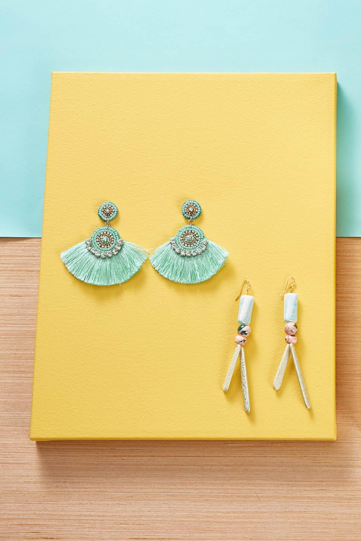 Mixed Ceramic Bead Earrings
