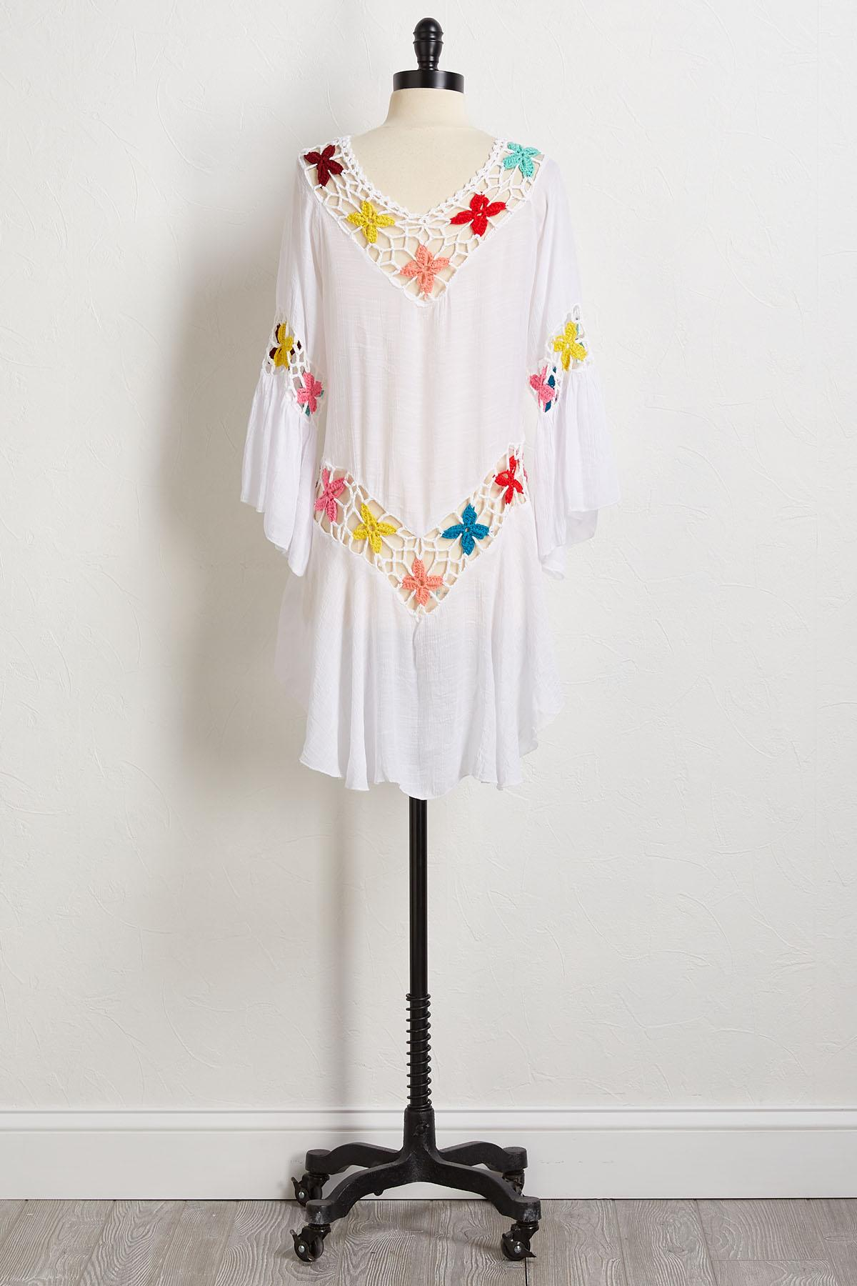 Floral Crochet Cover- Up