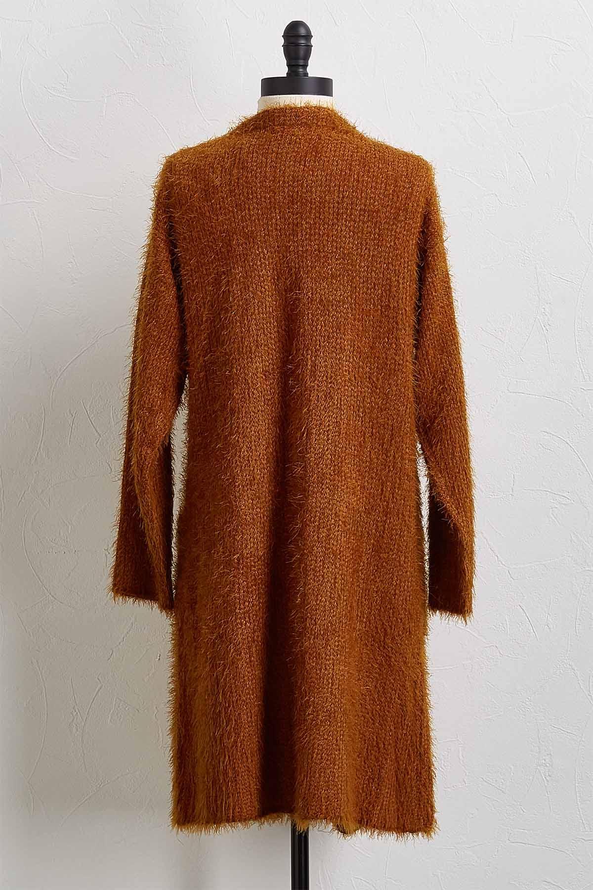 Eyelash Duster Cardigan Sweater