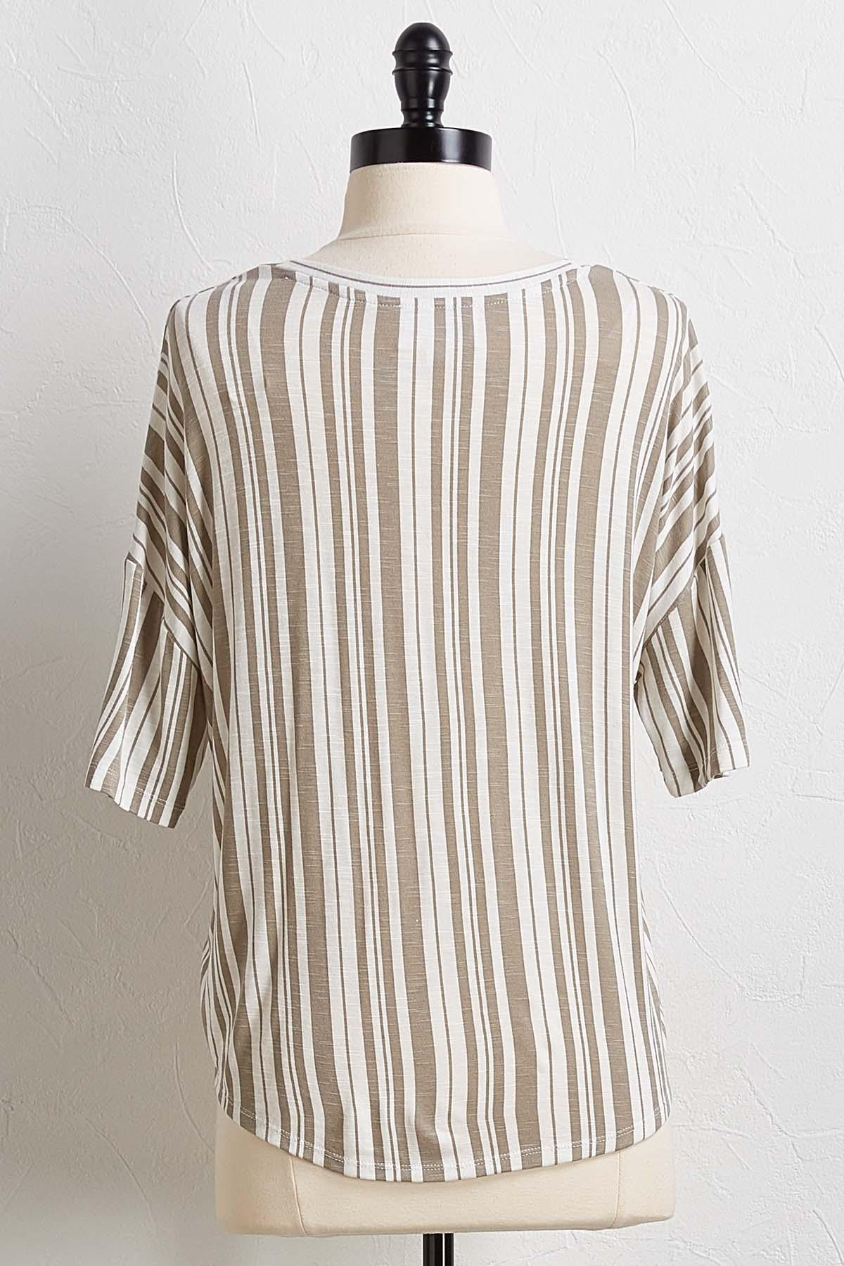 Stripe Knot Front Top