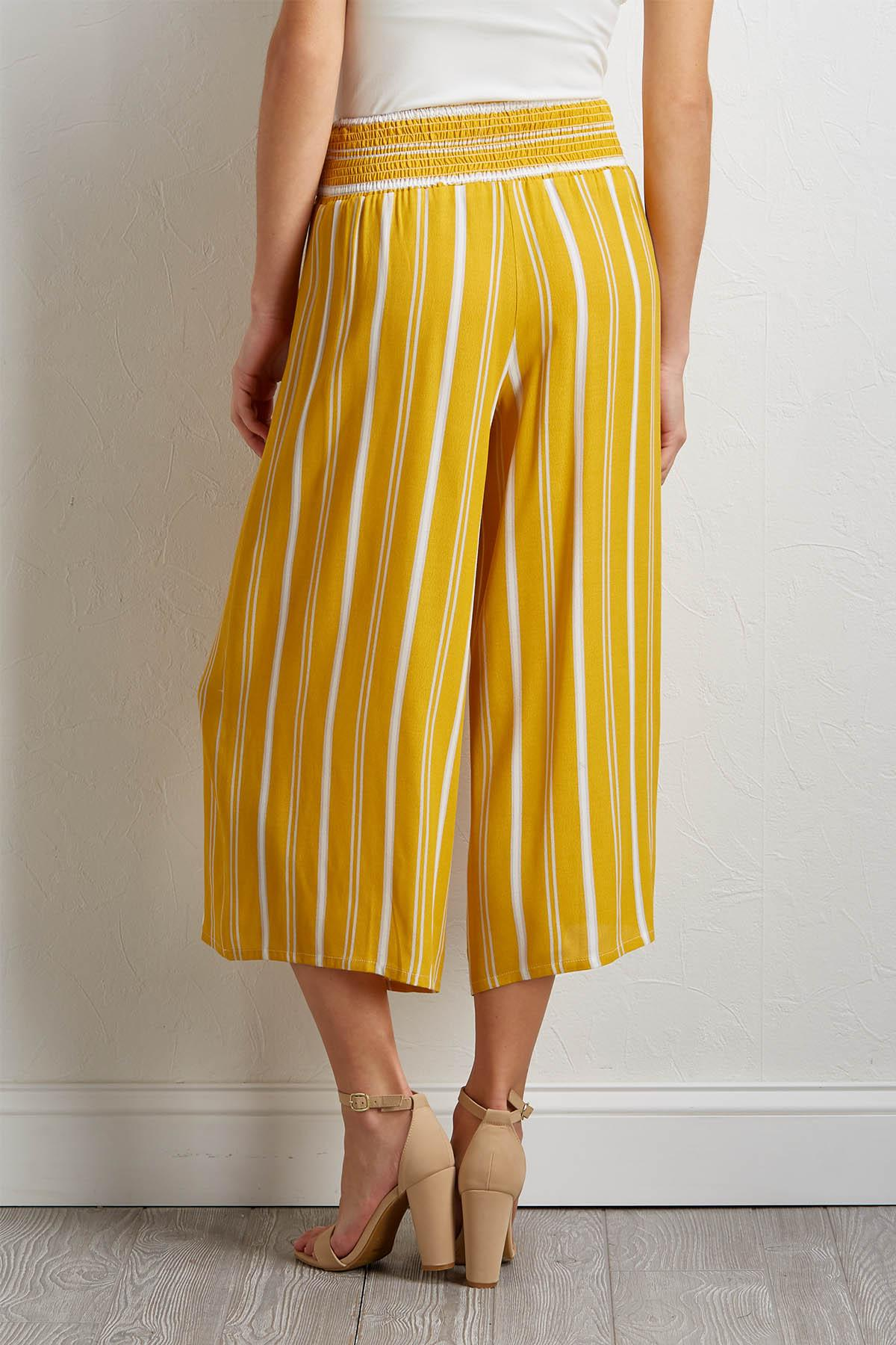 Cropped Sunshine Stripe Pants