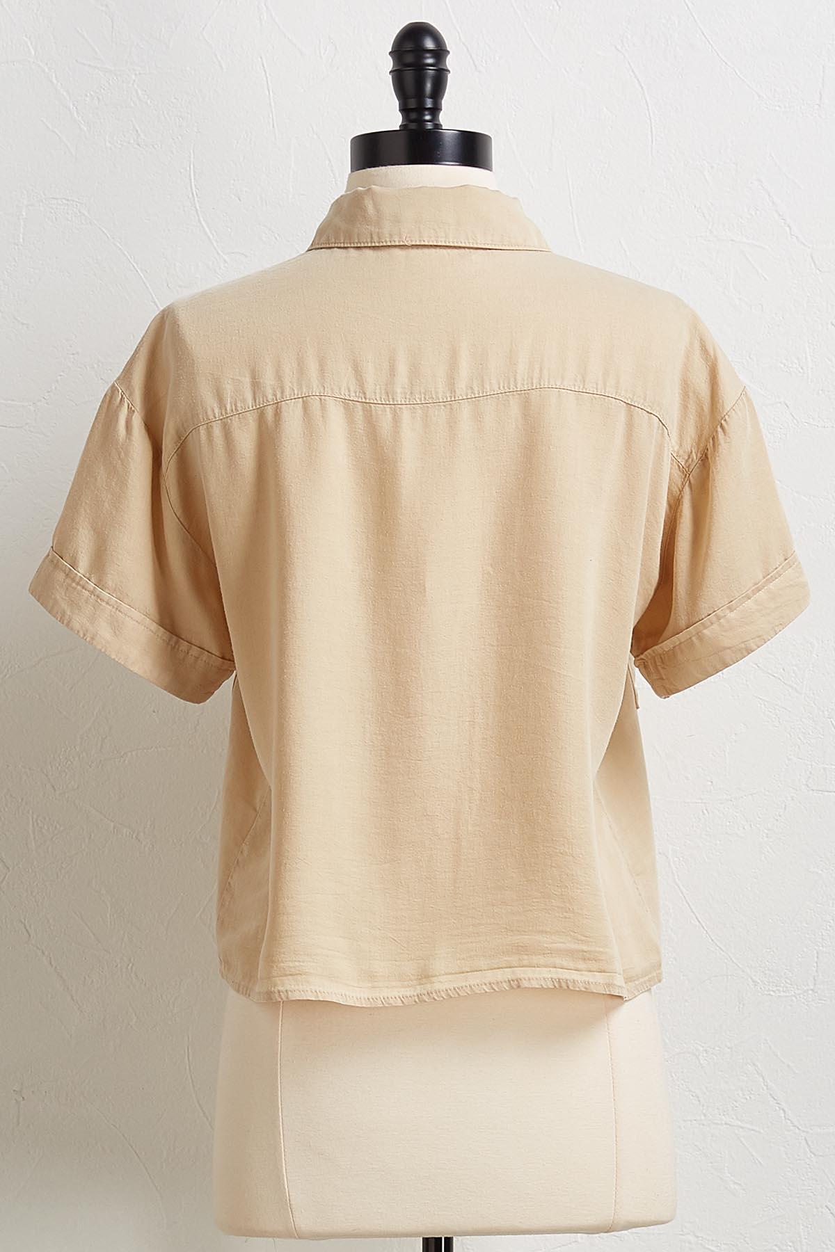 Cropped Utility Shirt