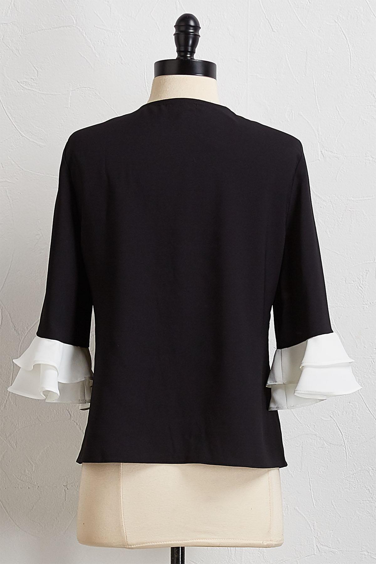 Victorian Ruffled Sleeve Top
