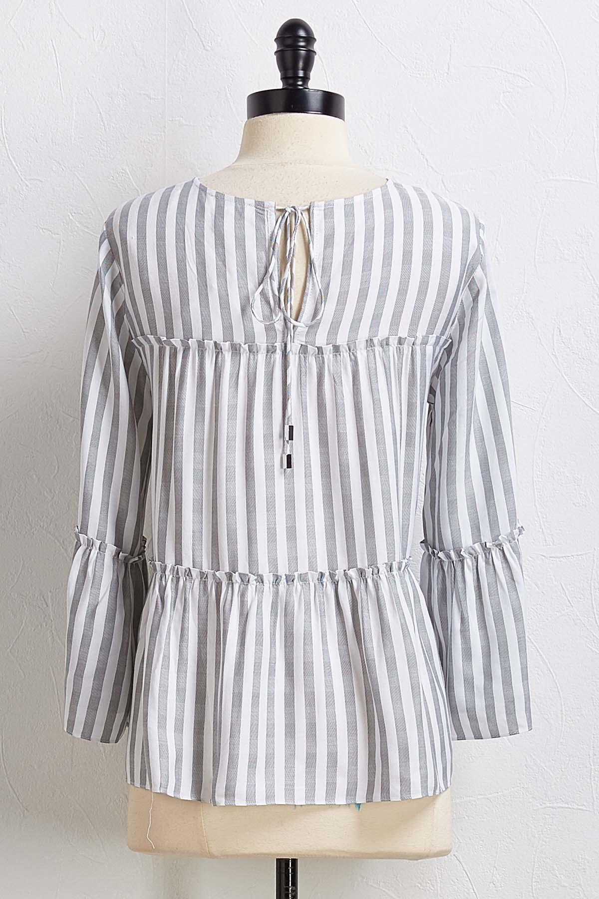 Tiered Stripe Top