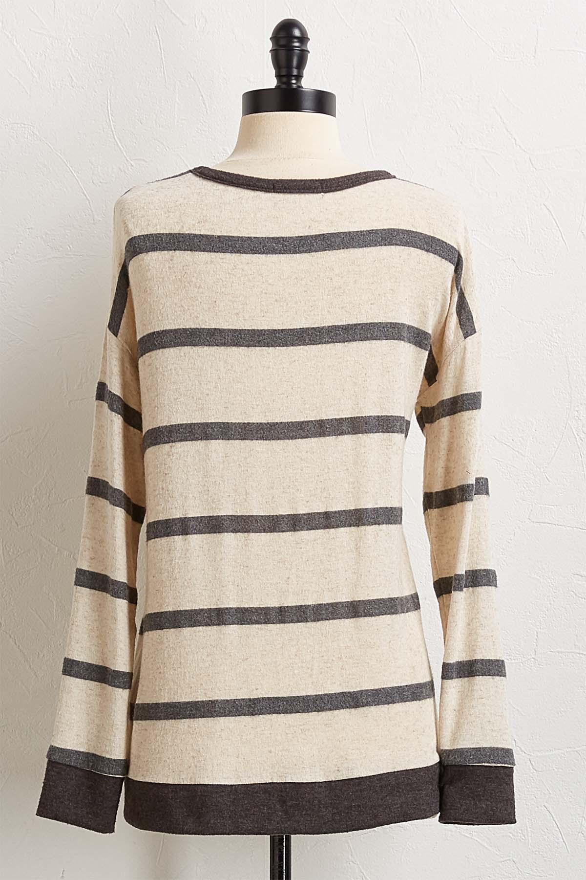Stripe Hacci Top