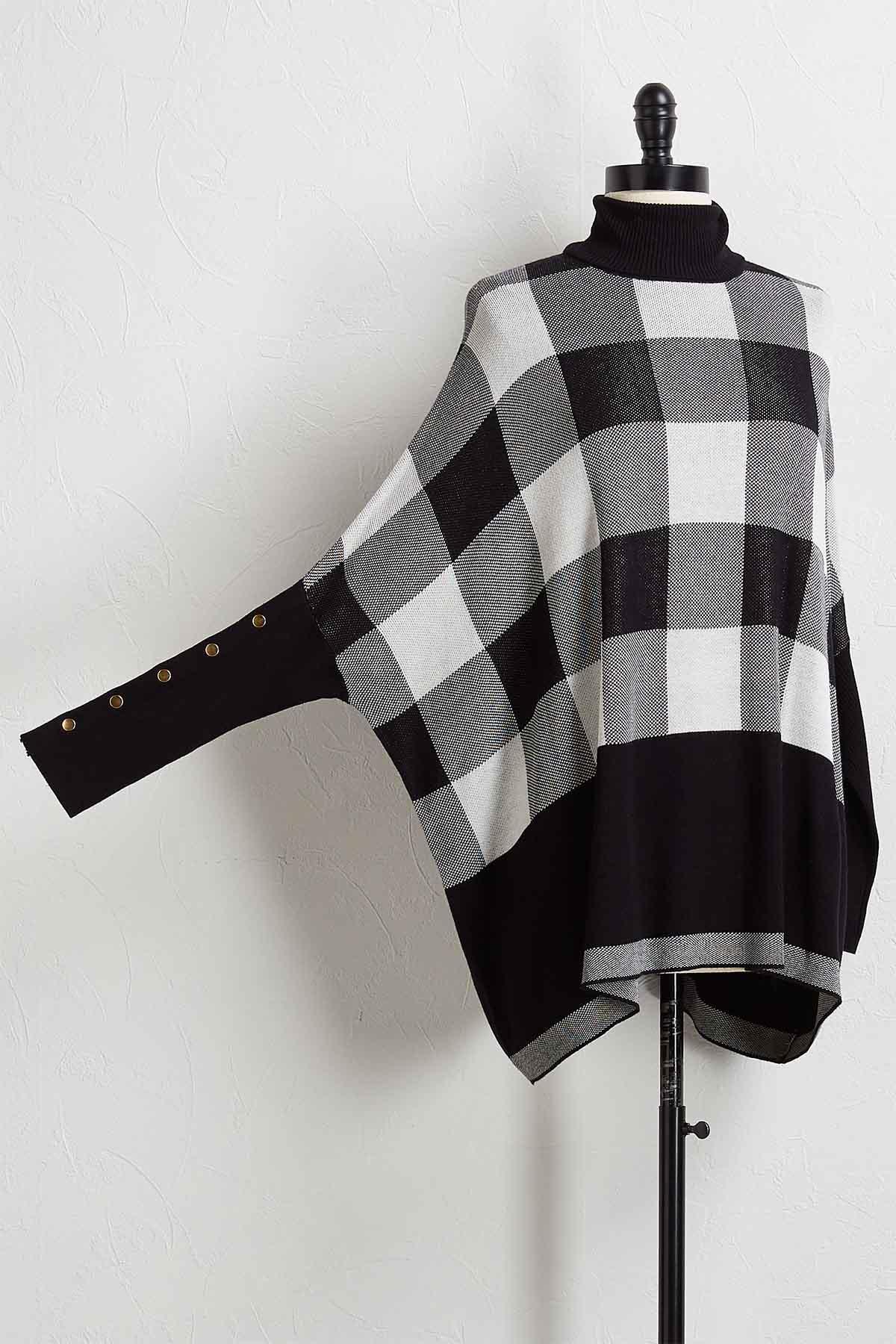Plaid Tunic Sweater