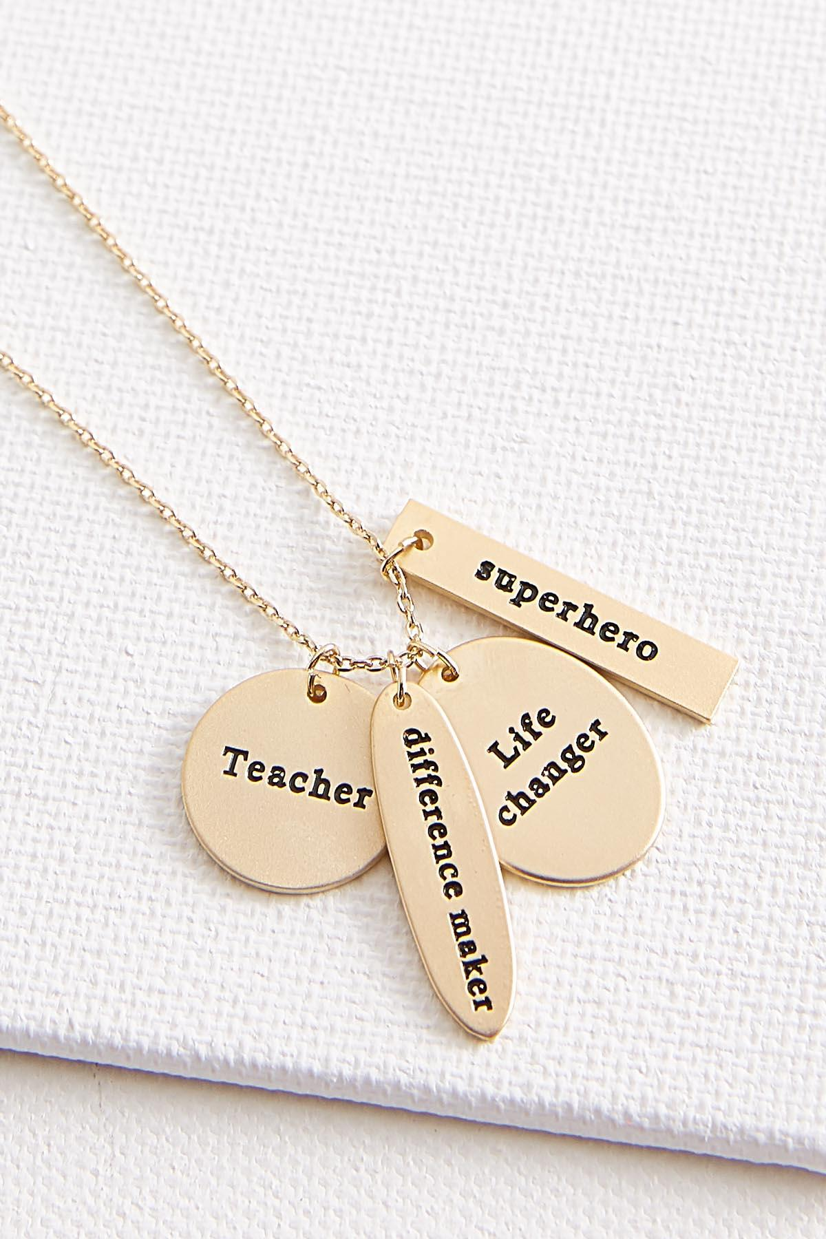 Teacher Cluster Pendant Necklace