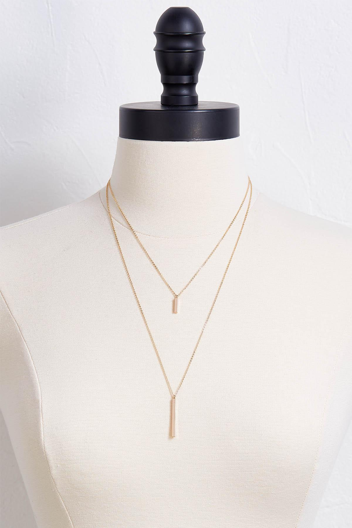 Layered Vertical Bar Necklace
