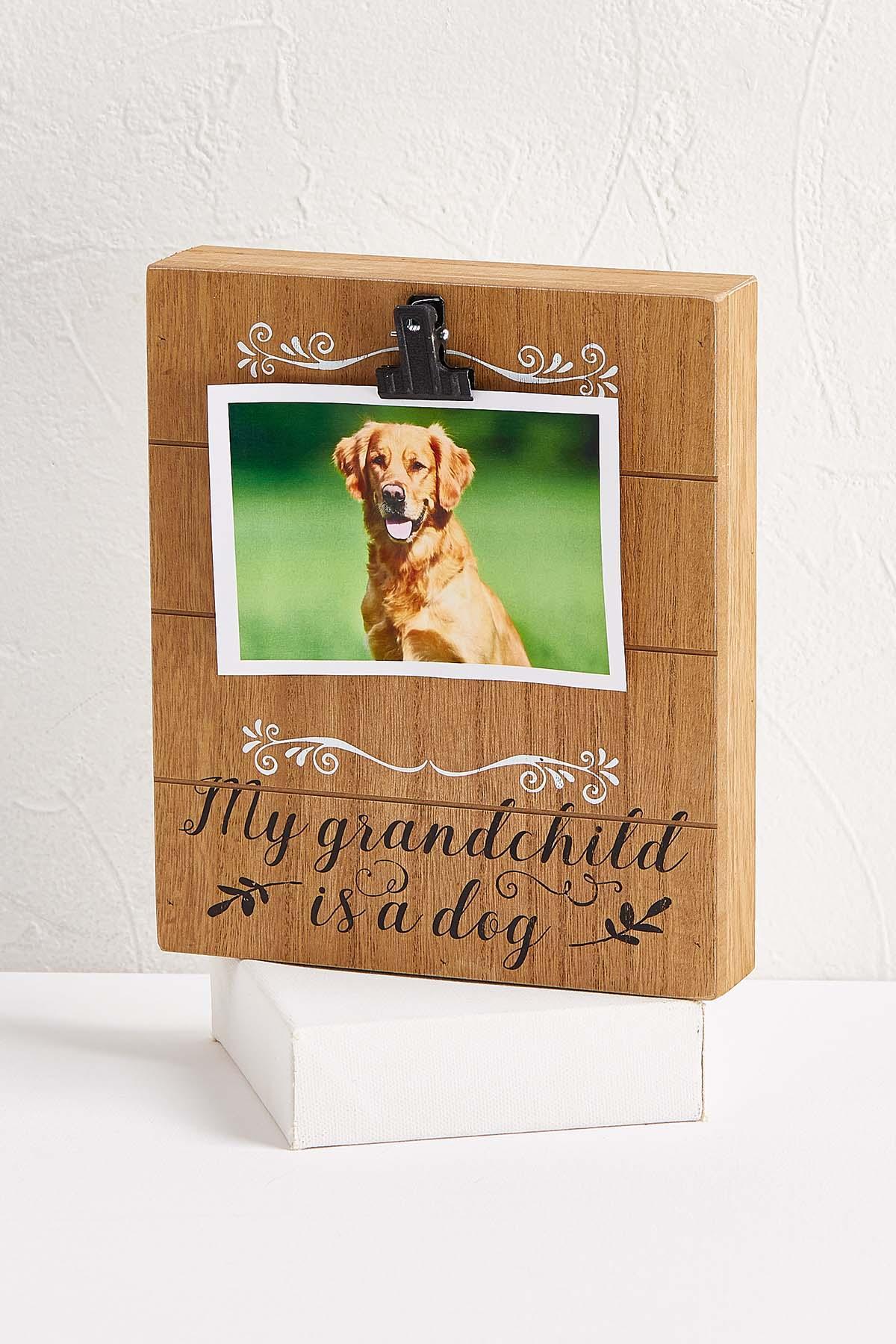 Wooden Grandchild Dog Frame