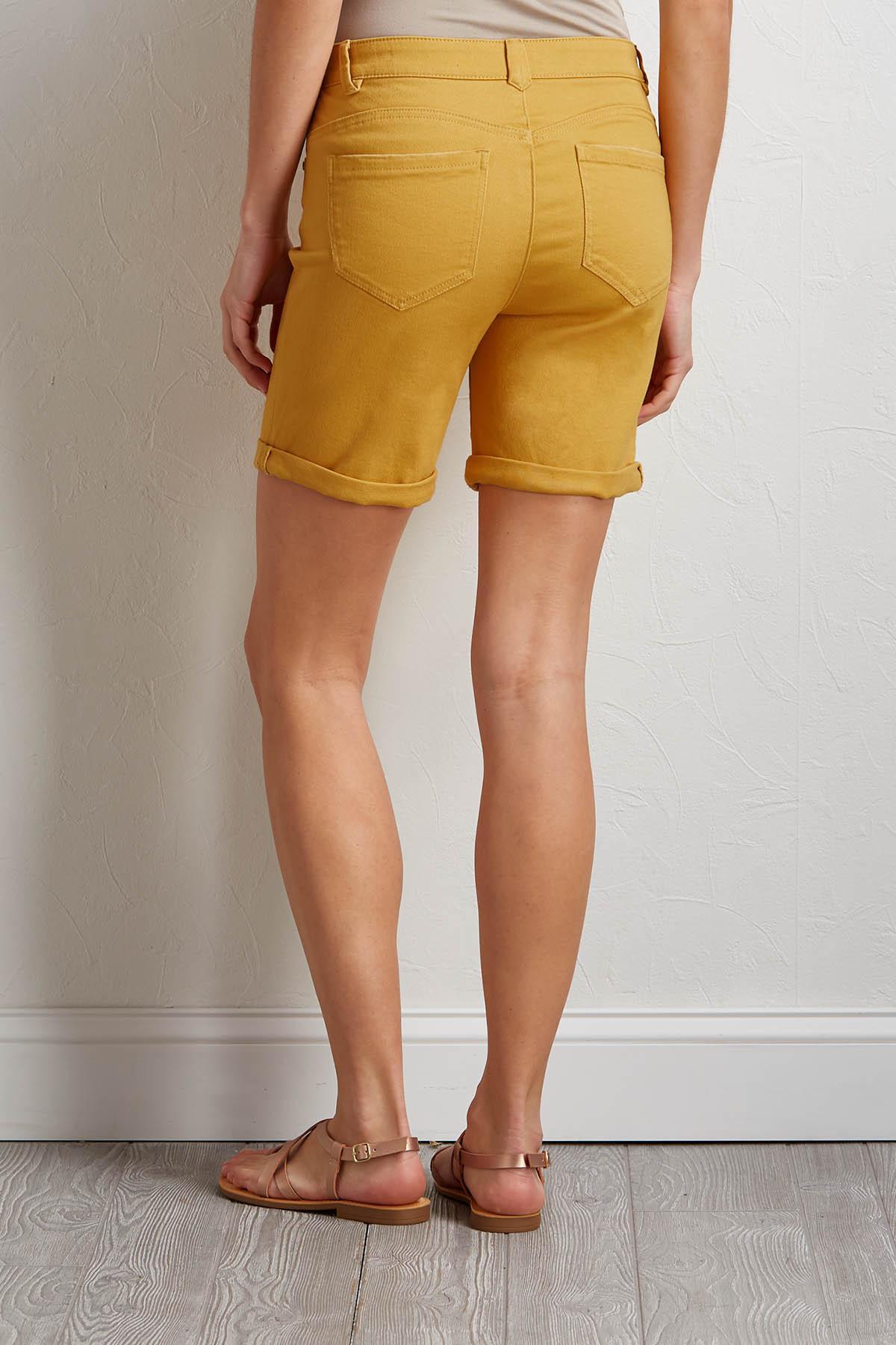 Sunflower Twill Bermuda Shorts