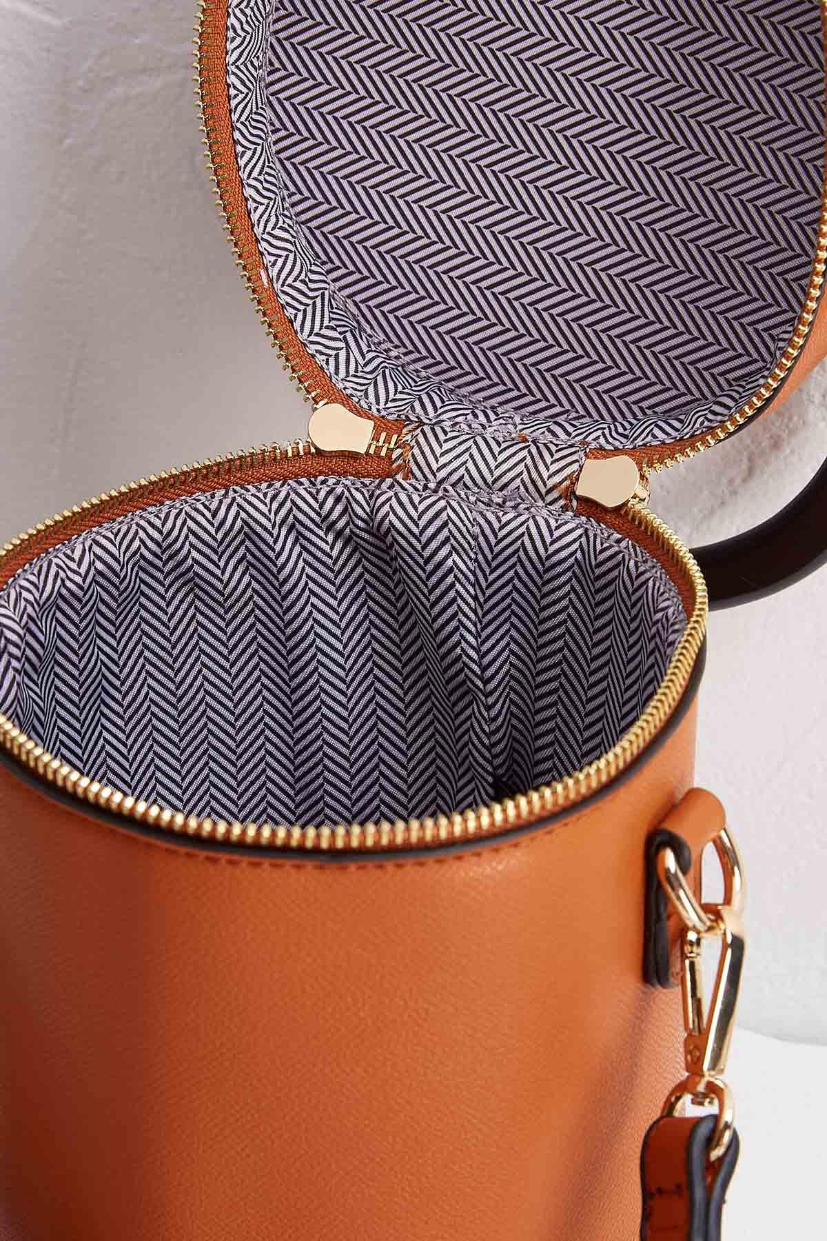 Cylinder Shaped Handbag
