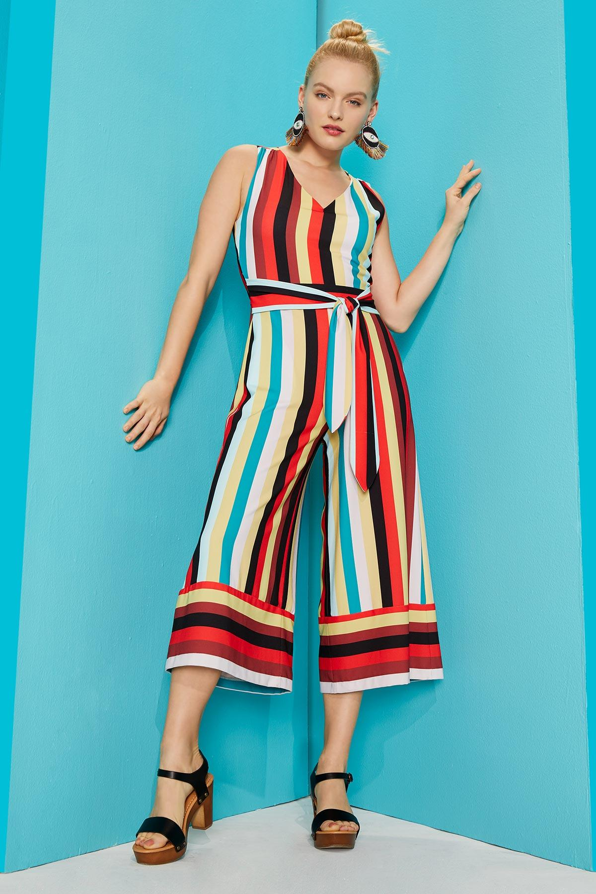 Bright Stripe Jumpsuit