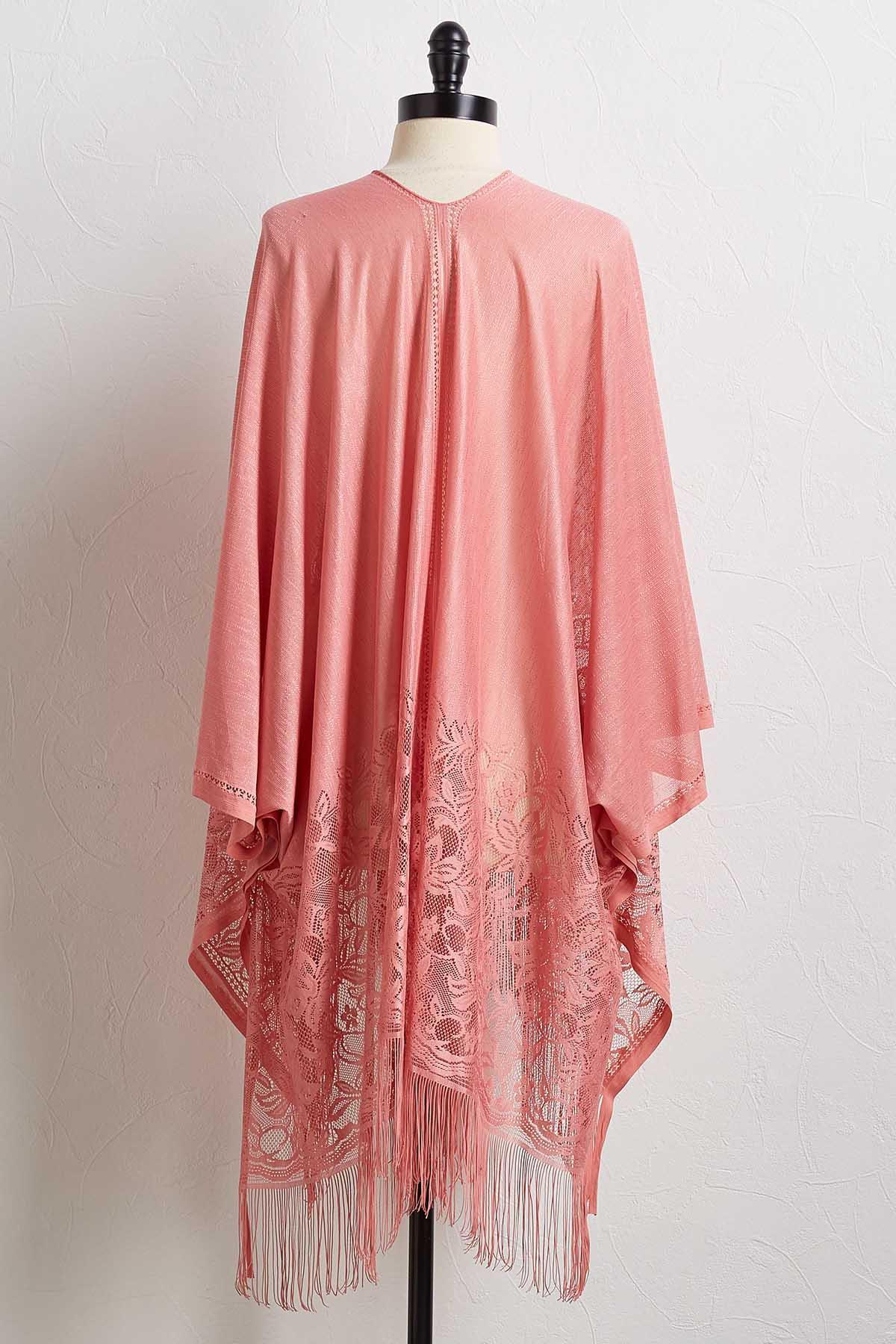 Solid Lace Kimono