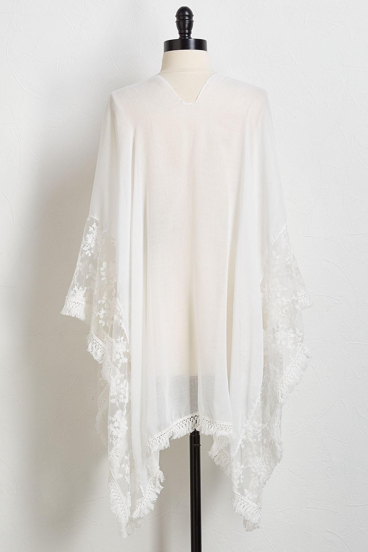 Lace Trim Kimono