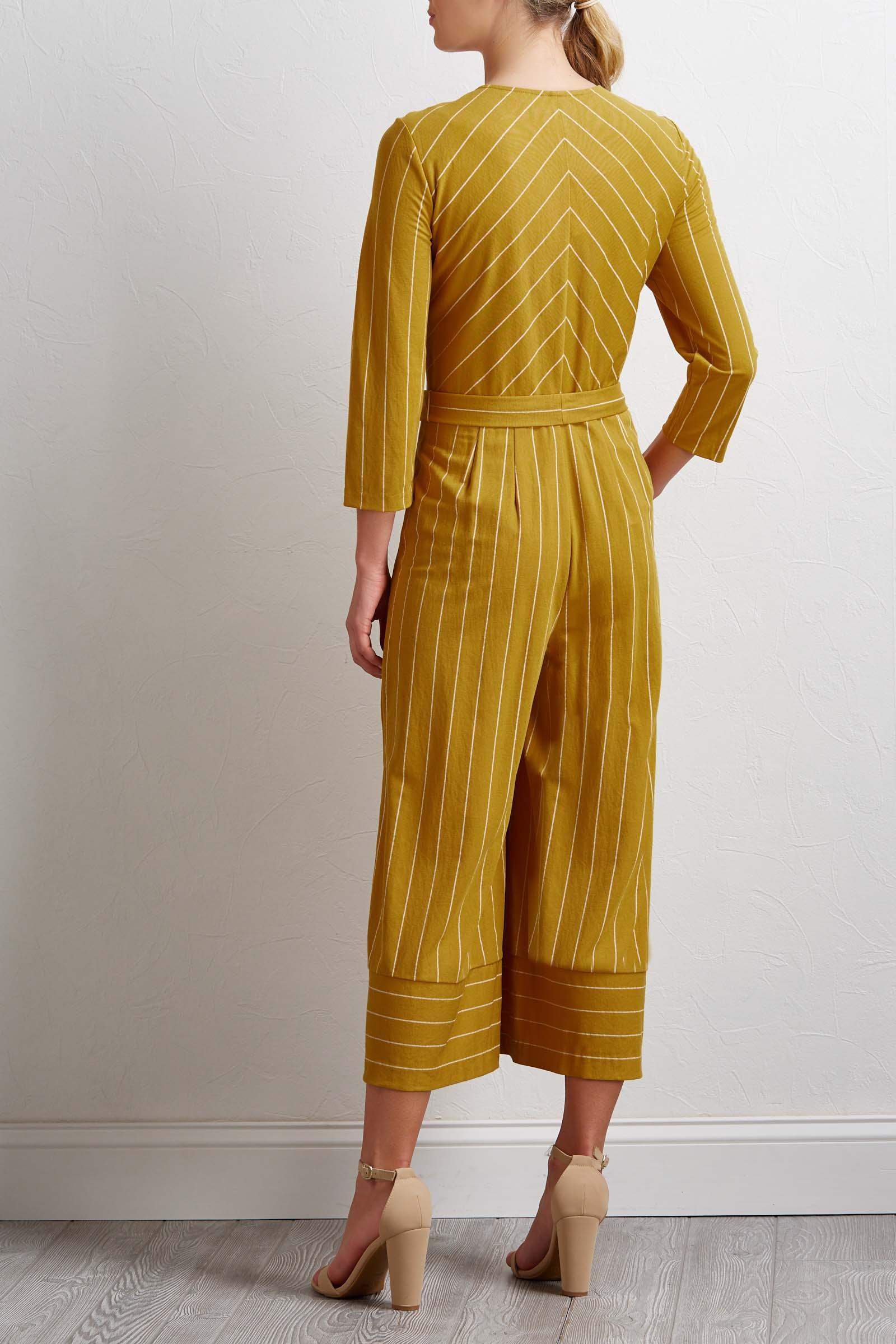 Golden Stripe Jumpsuit