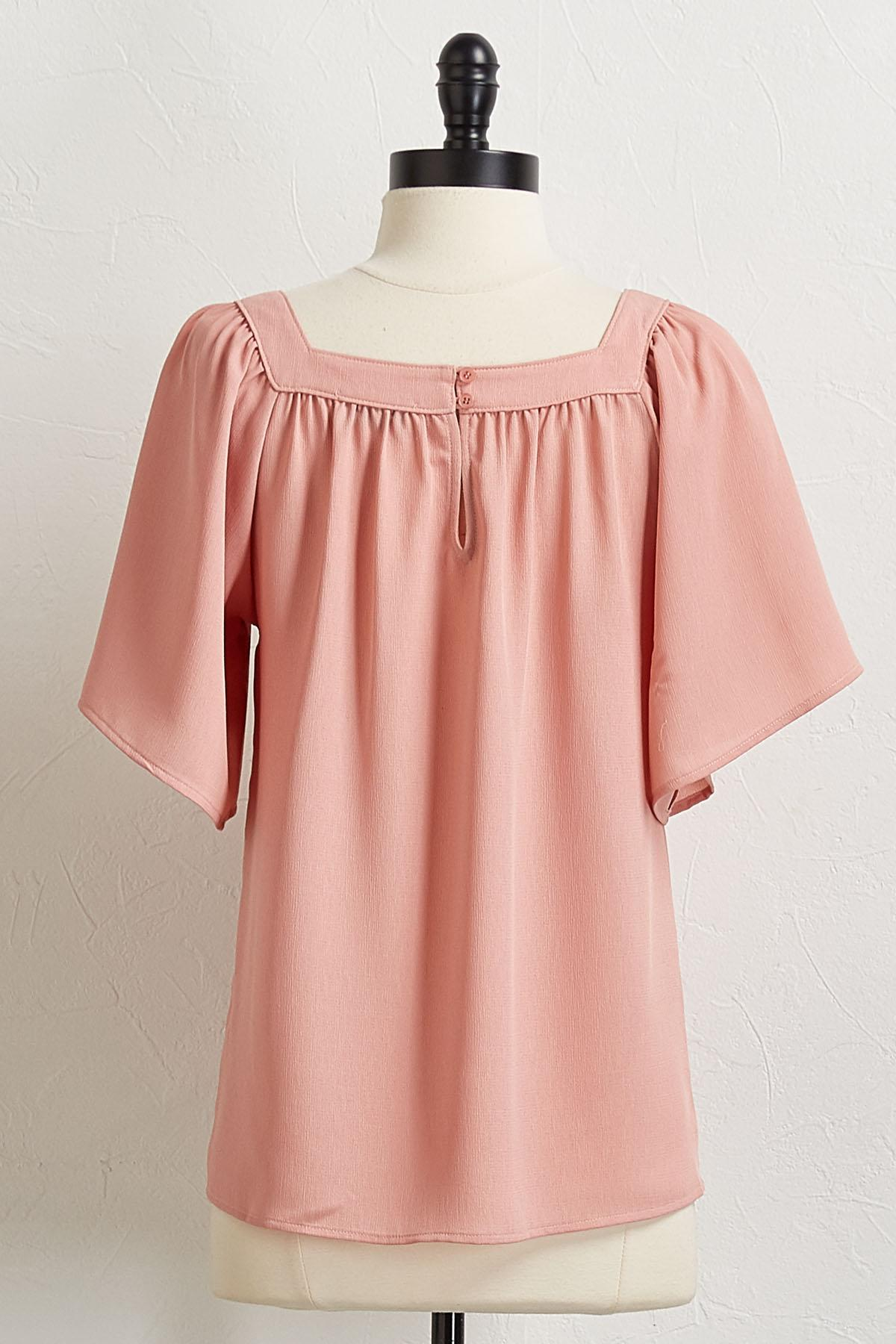 Textured Blush Top