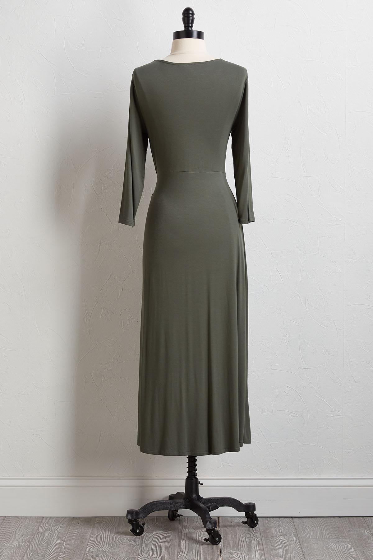 Twist Waist Midi Dress
