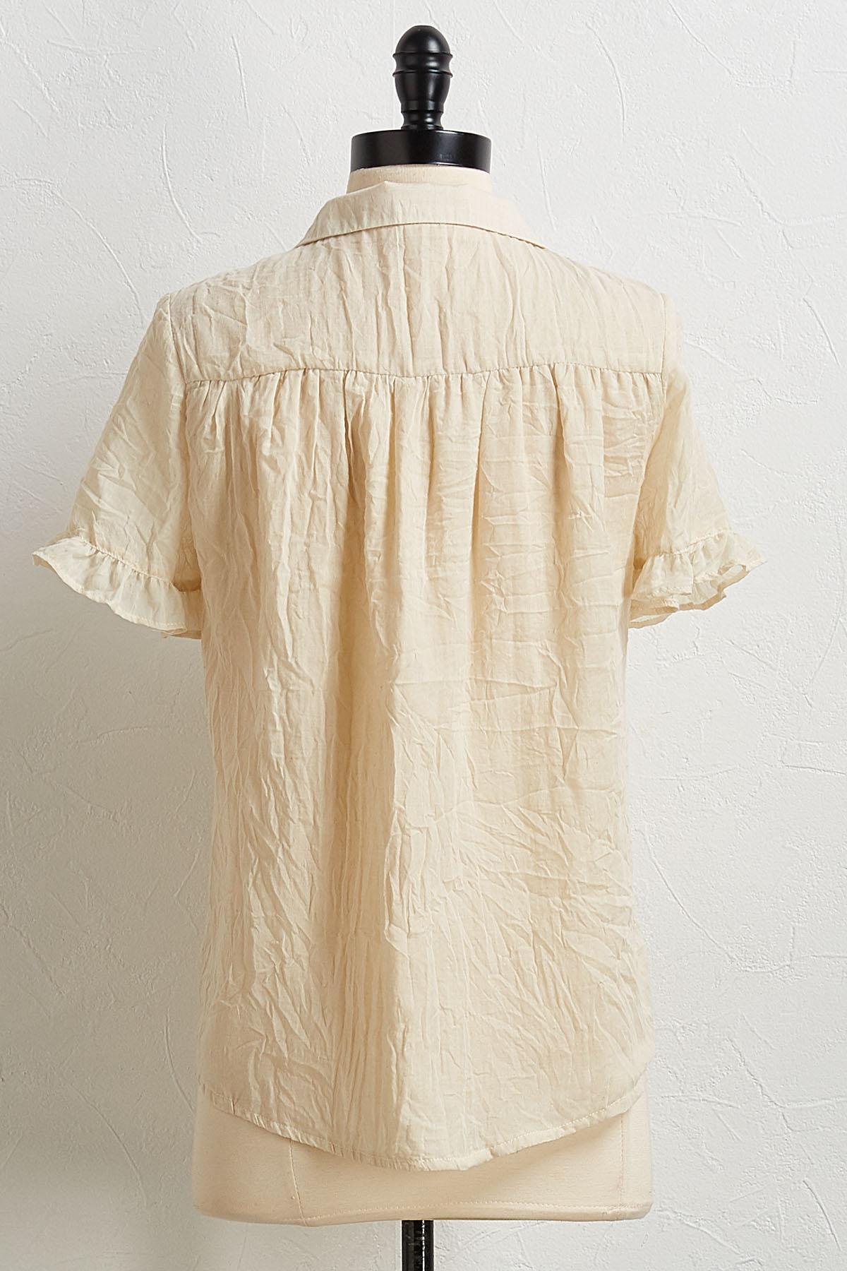 Ruffled Trim Shirt