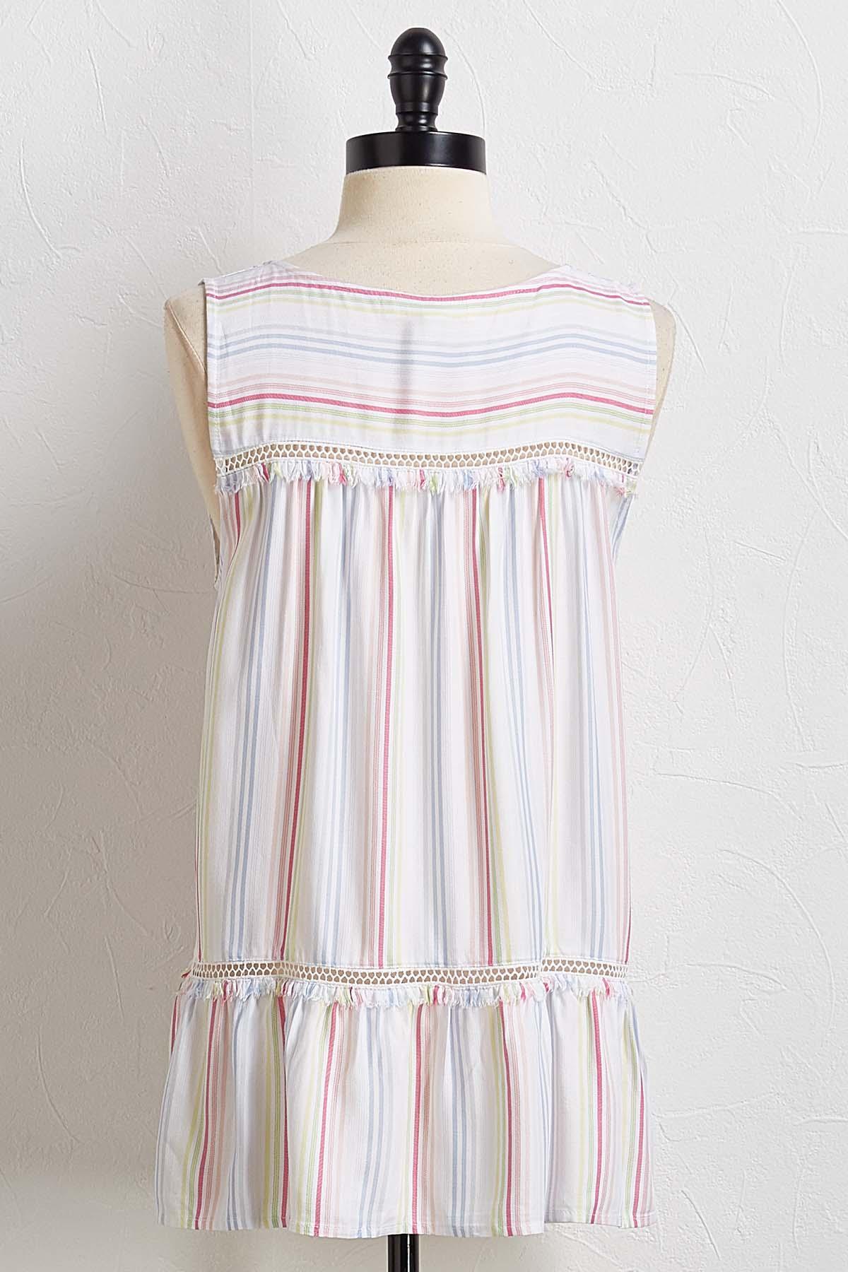 Tasseled Stripe Top