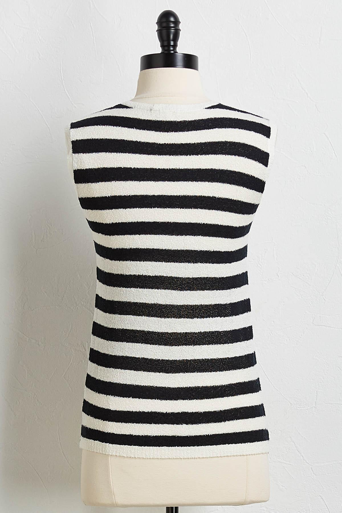 Black And White Sweater Tank