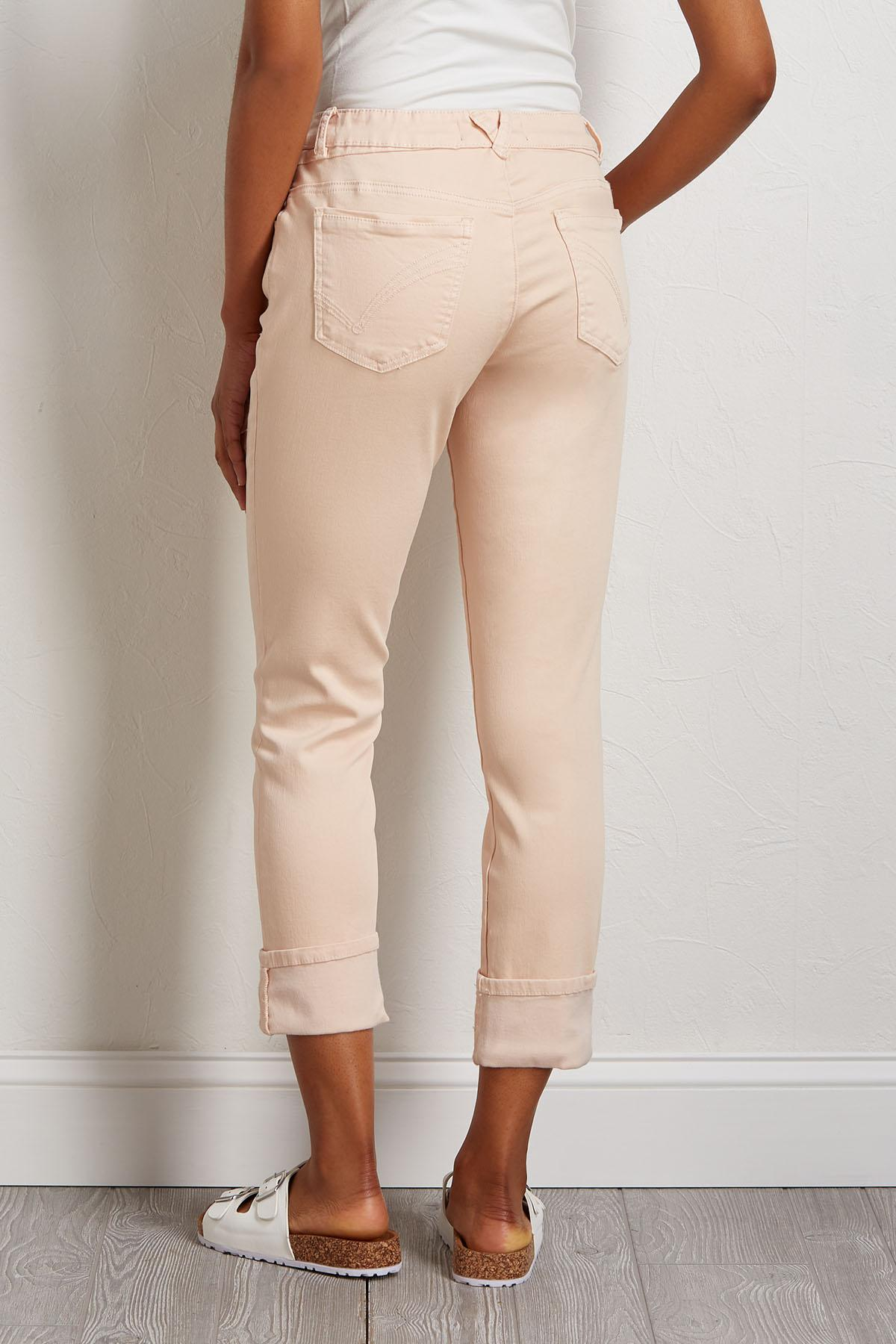 Cropped Petal Pink Jeans