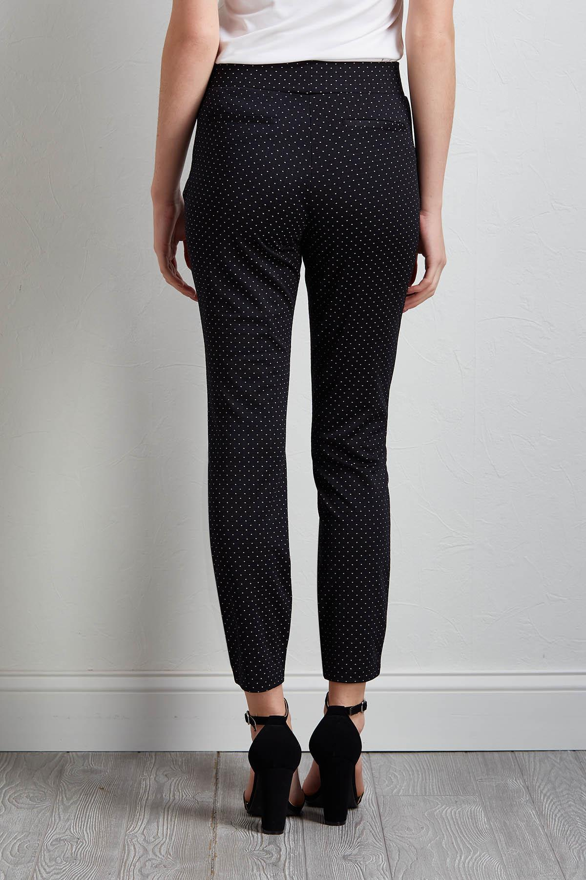 Dotted Pull- On Pants