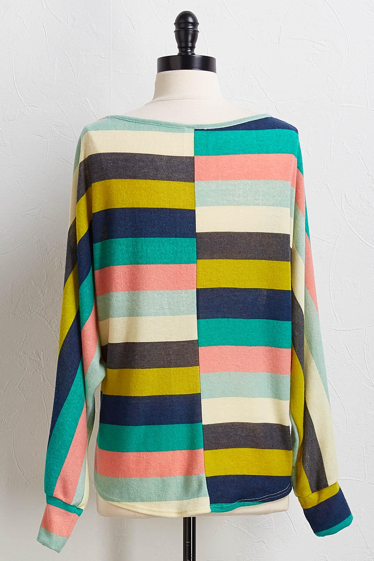 Knotted Multi Stripe Top