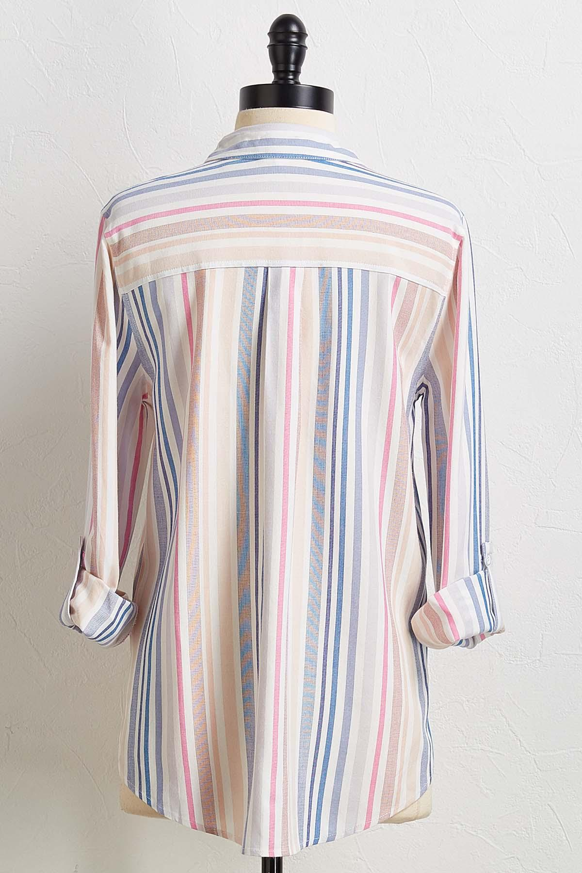 Muted Stripe Boyfriend Shirt